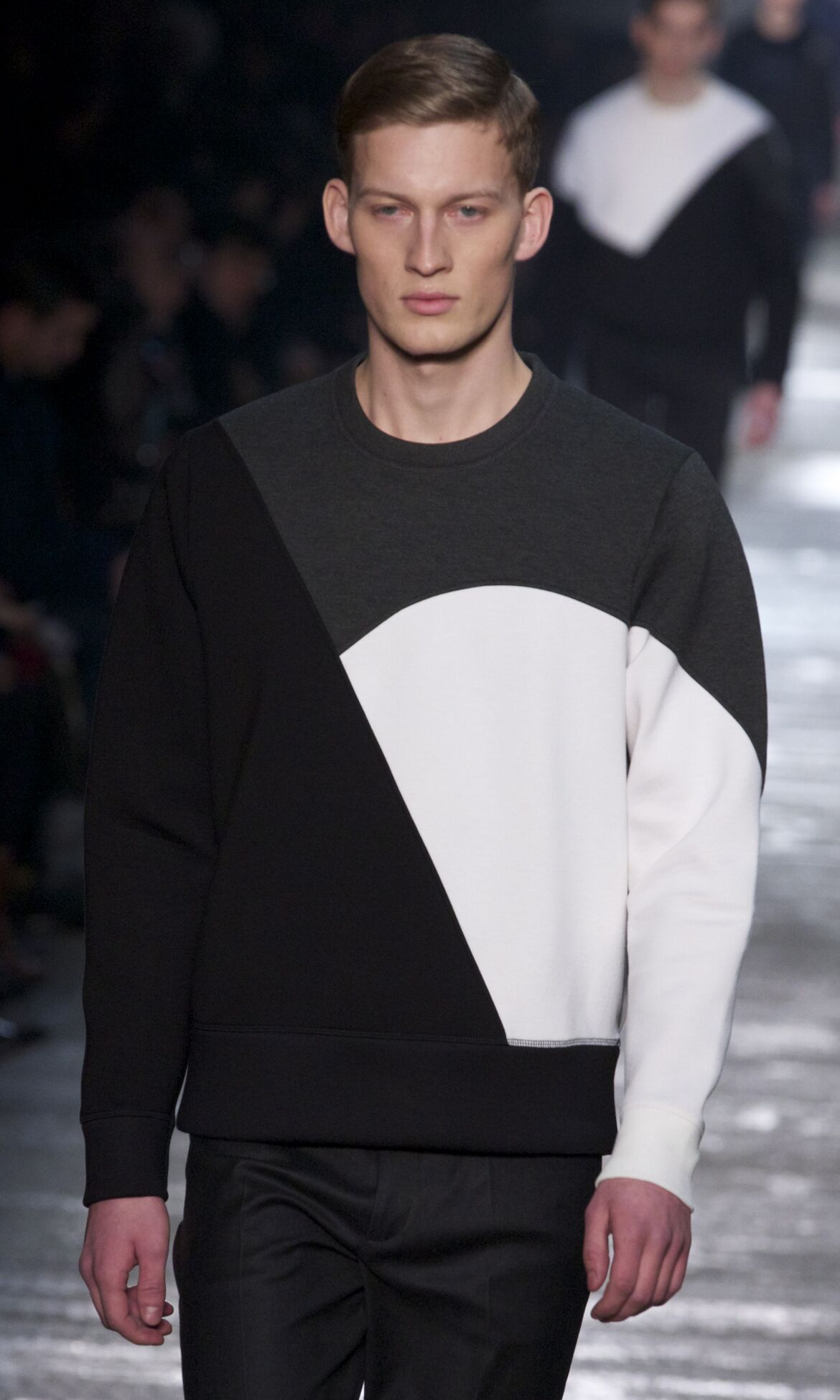 Fashion Model Neil Barrett Catwalk