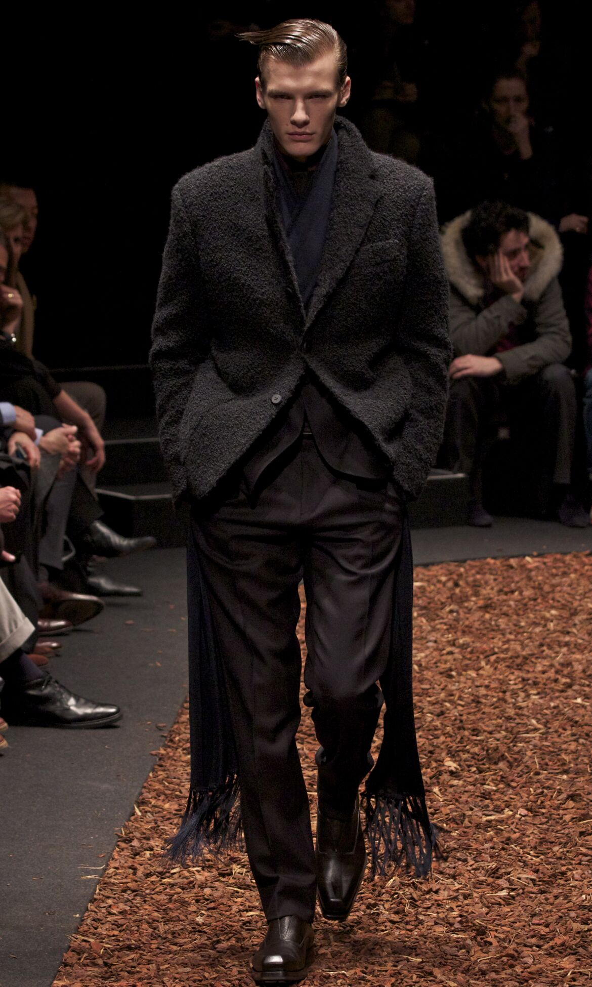 Fashion Model Z Zegna Catwalk