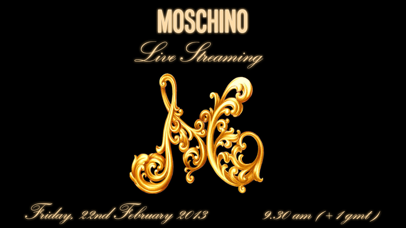 Moschino Fashion Show Live Streaming Autumn Winter 2013-14 Milan