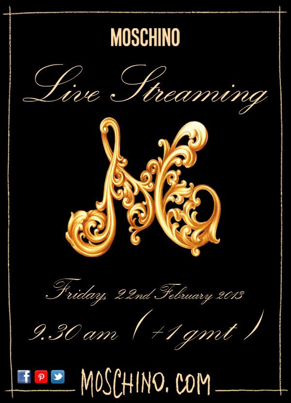 Moschino Live Streaming Fall Winter 2013-14