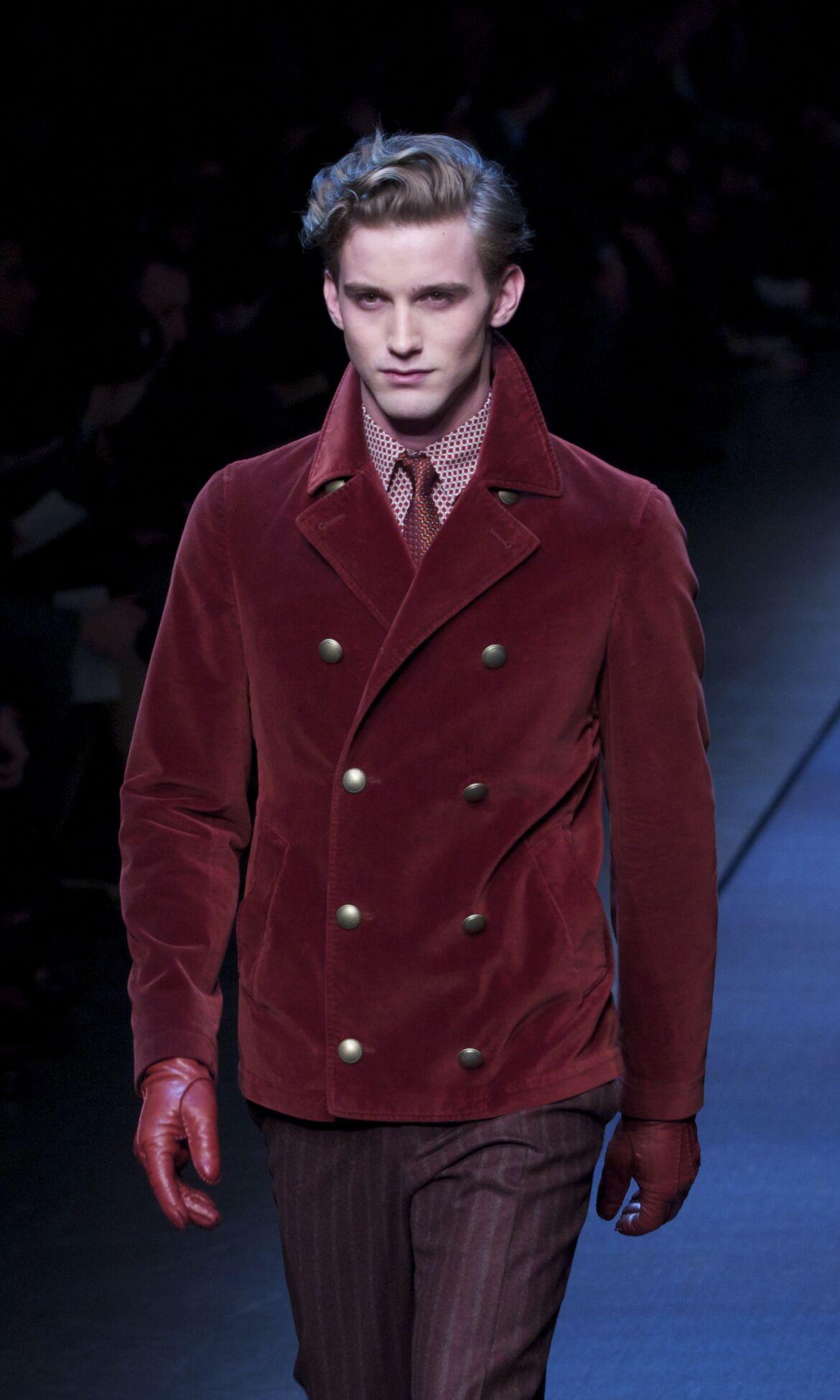 Runway Canali Fall Winter 2013 14 Men Collection Milan Fashion Week