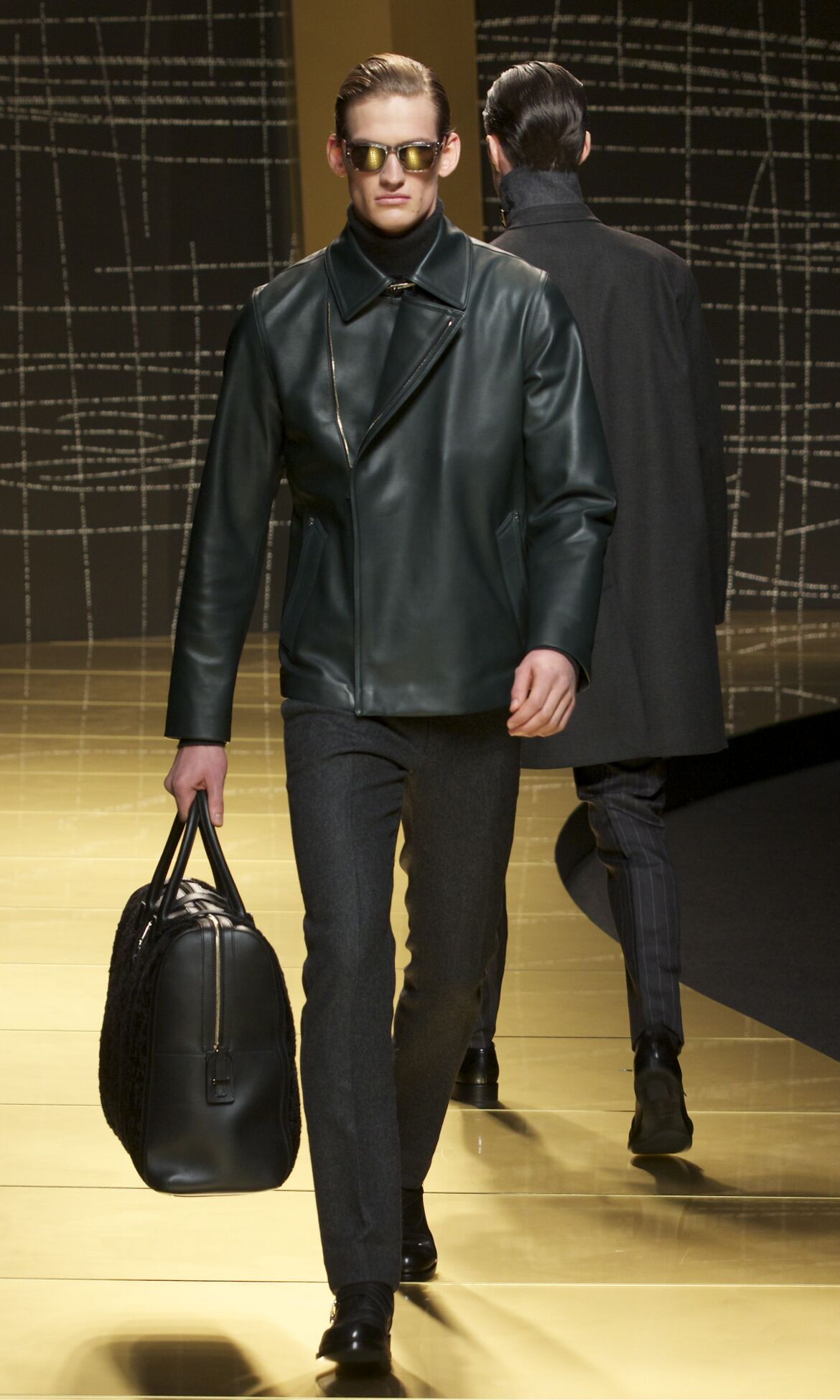 Runway Ermenegildo Zegna Fall Winter 2013 14 Men Collection Milan Fashion Week