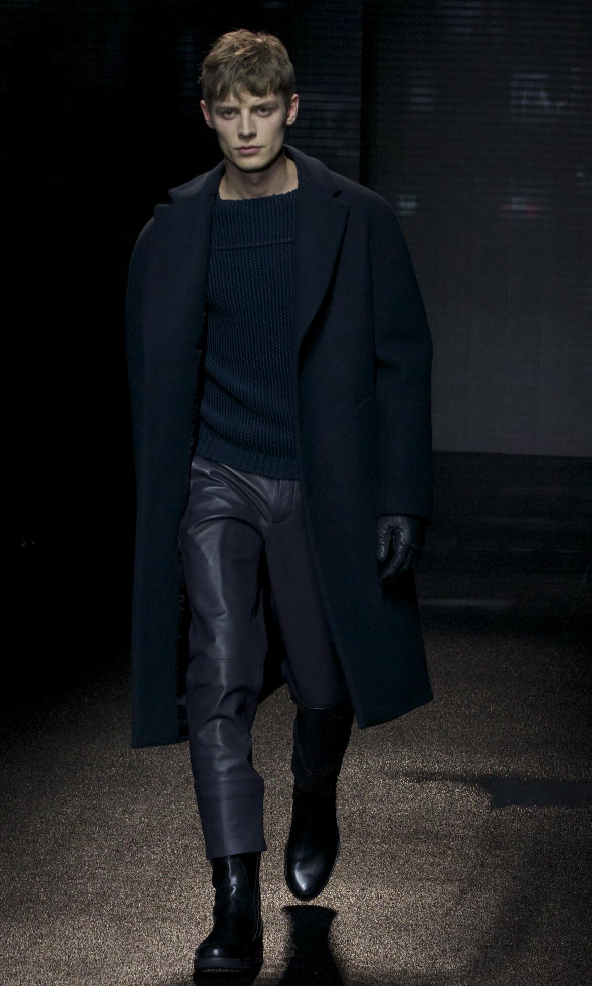 Runway Salvatore Ferragamo Fall Winter 2013 14 Men Collection Milan Fashion Week