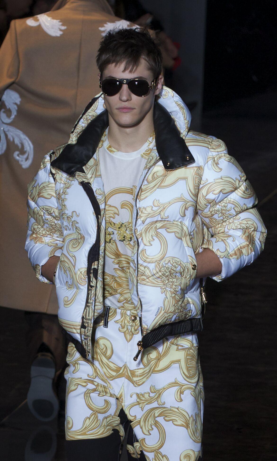 Versace Fall Winter 2013 14 Men Collection Milan Fashion Week Fashion Show