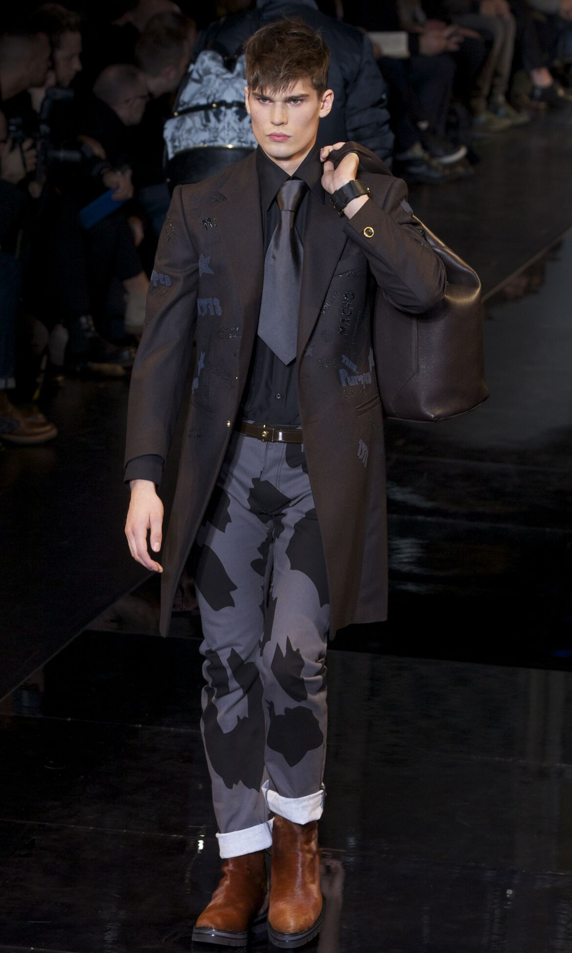 Winter Model Trends 2013 Man Versace