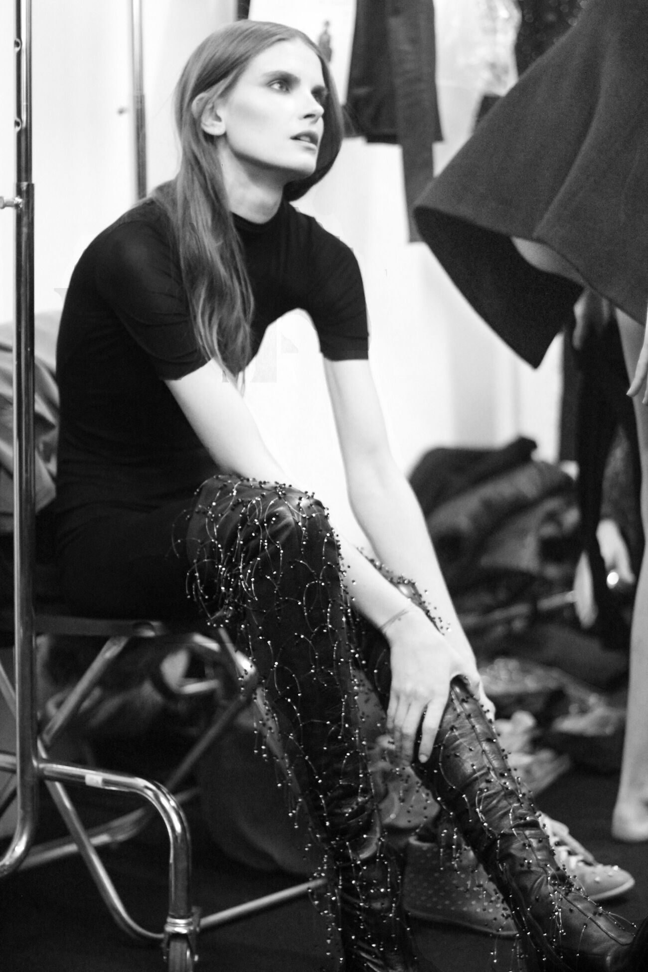 Backstage Mila Schön Fall Winter 2013 14 Womens Collection Milano Fashion Week