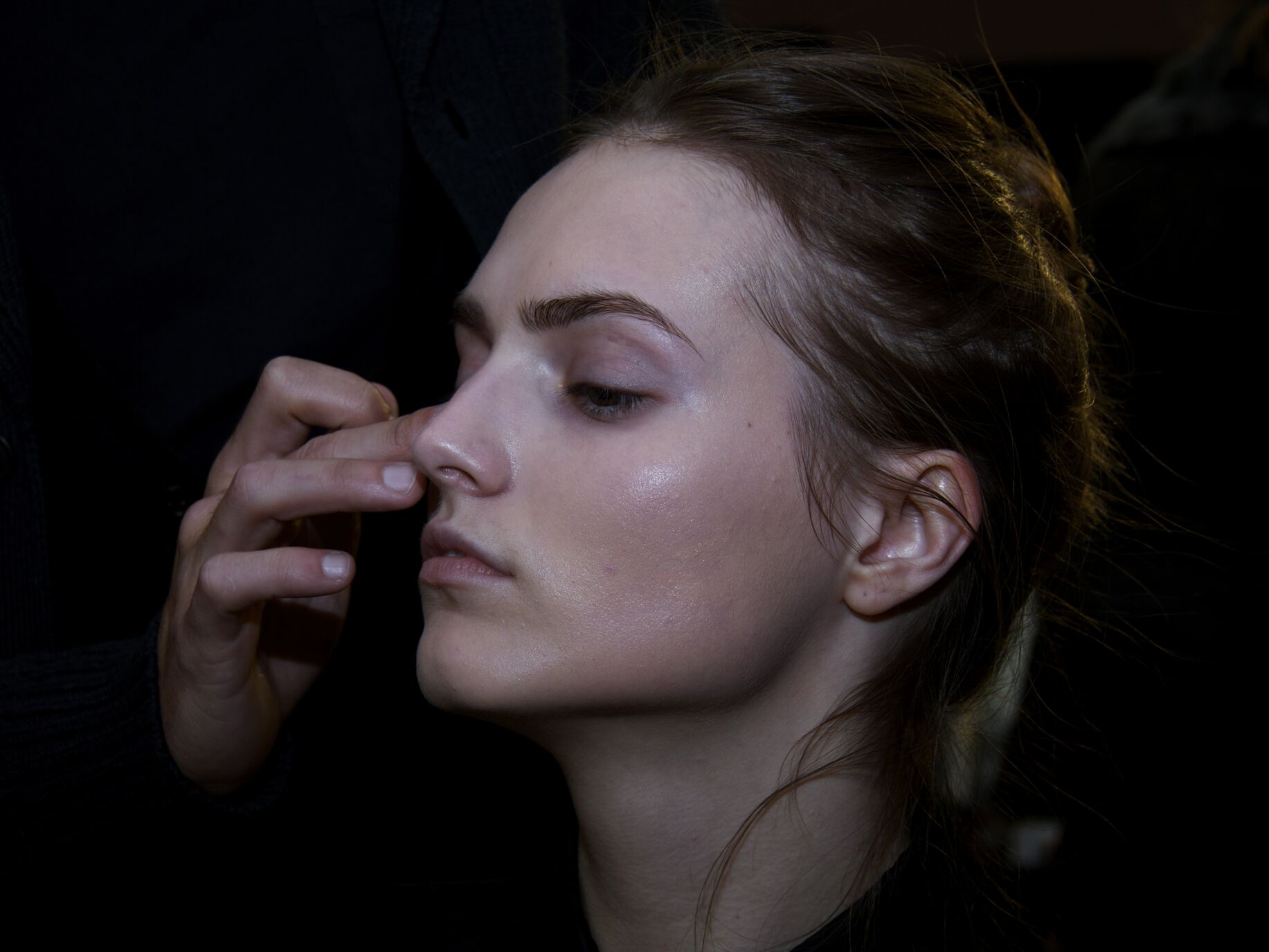 Backstage Ports 1961 Woman Milano Fashion Week Makeup