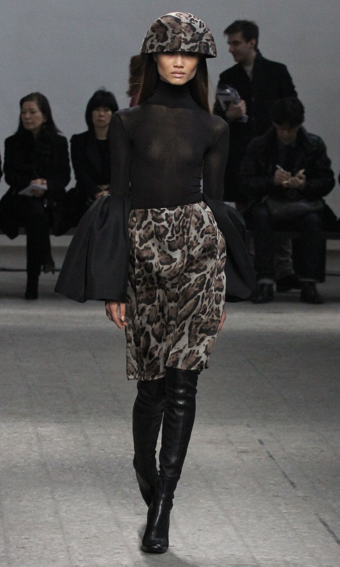 Catwalk Mila Schön Fall Winter 2013 14 Women Collection Milan Fashion Week