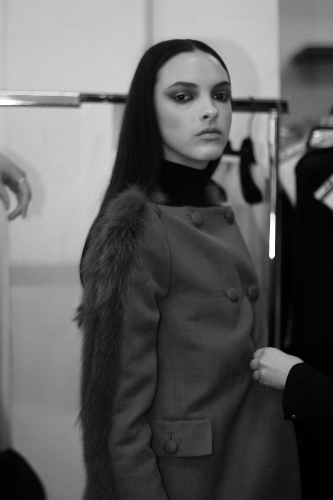 Fashion Model Backstage Mila Schön