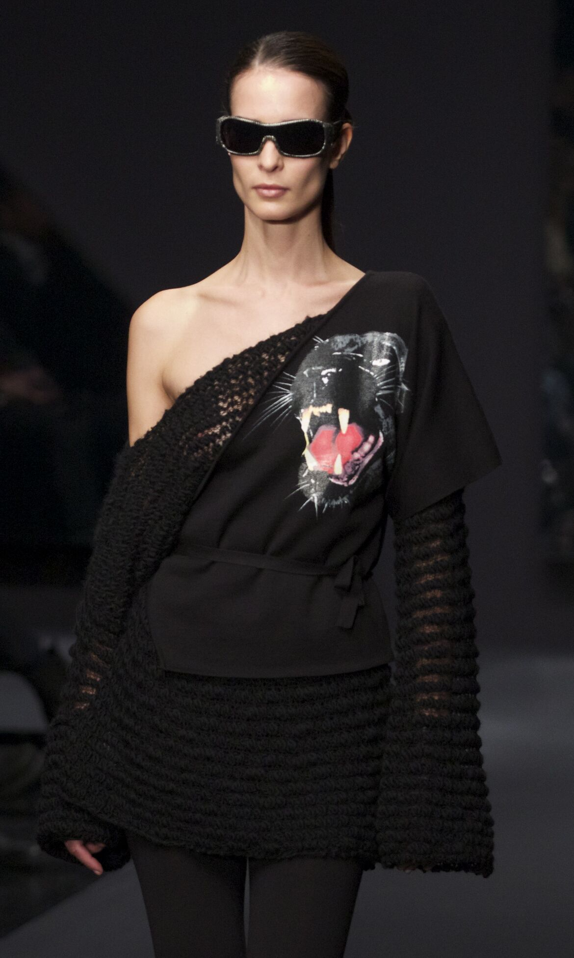 Fashion Model Krizia Catwalk