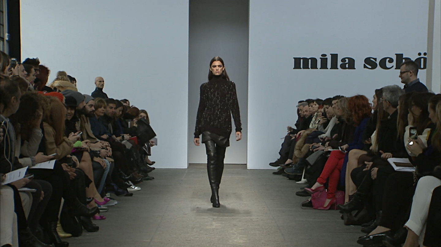 Mila Schön Fall Winter 2013-14 Women's Fashion Show - Milan Fashion Week
