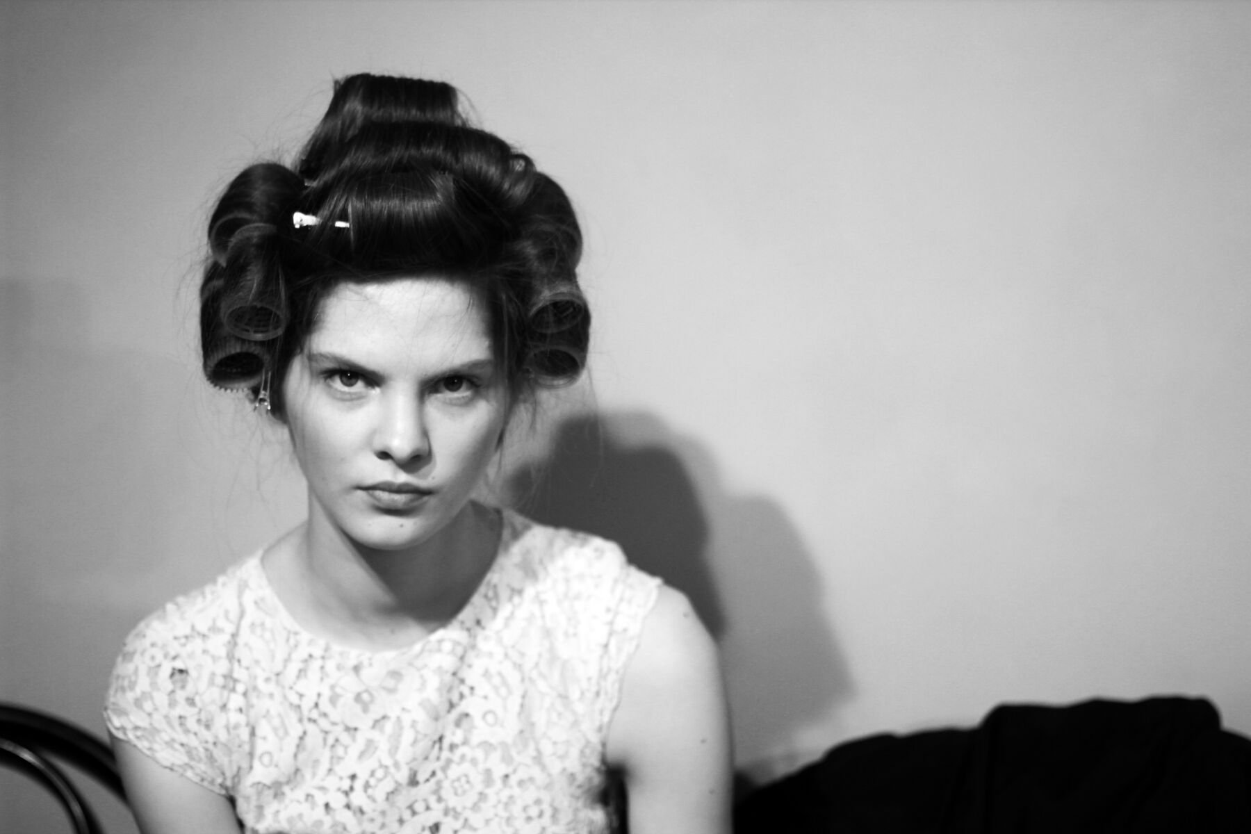 Backstage Andrea Incontri FW 2013 14 Model Hair Style
