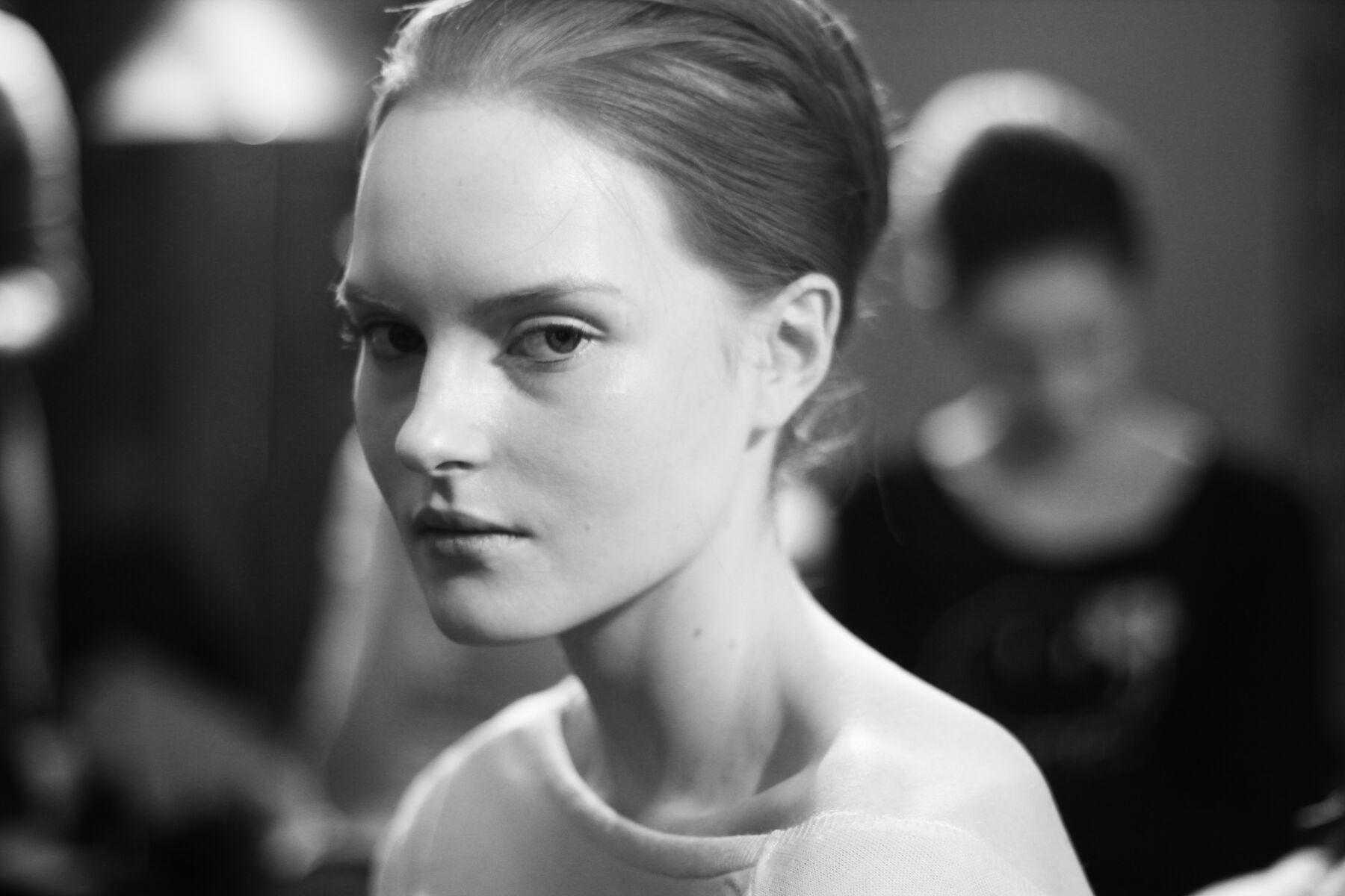 Backstage Woman Model Andrea Incontri