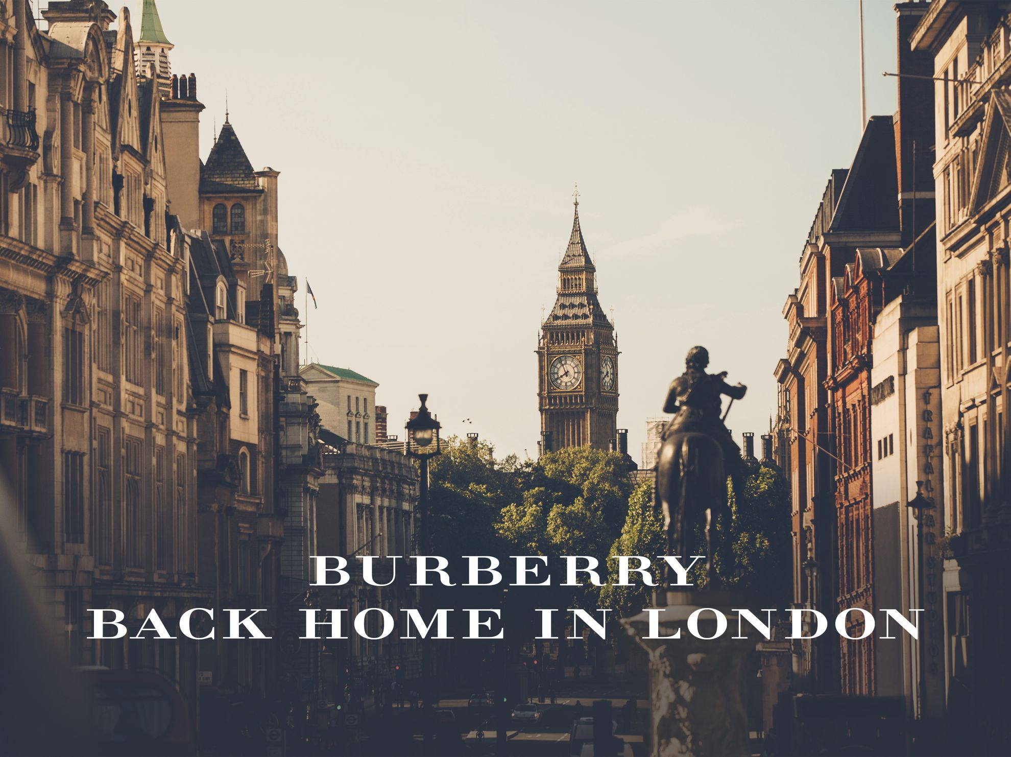 Burberry back home in London