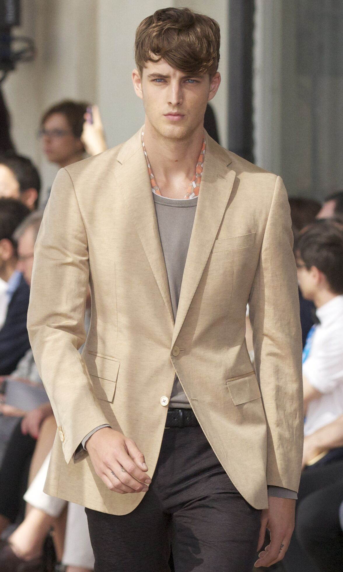 Catwalk Corneliani Spring Summer 2014 Men Collection Milano Fashion Week