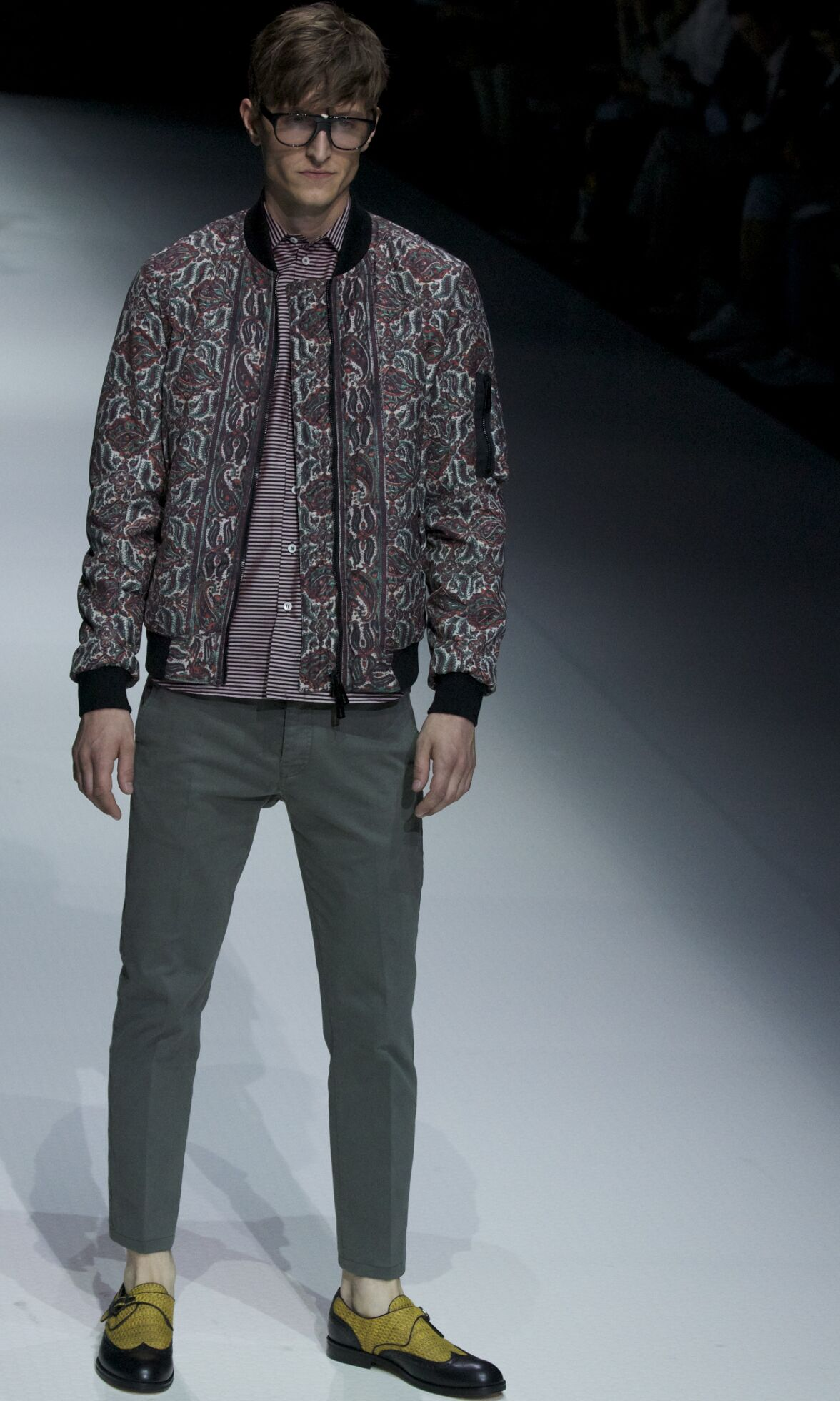 Fashion Man Model Andrea Pompilio Catwalk