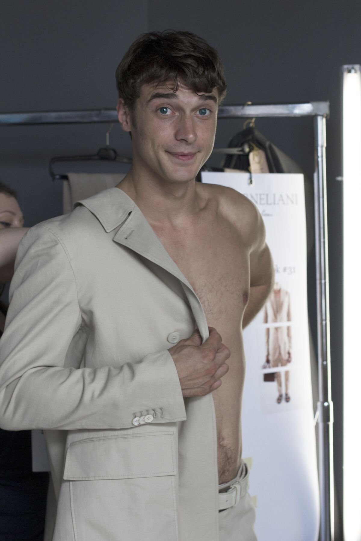 Fashion Model Backstage Corneliani