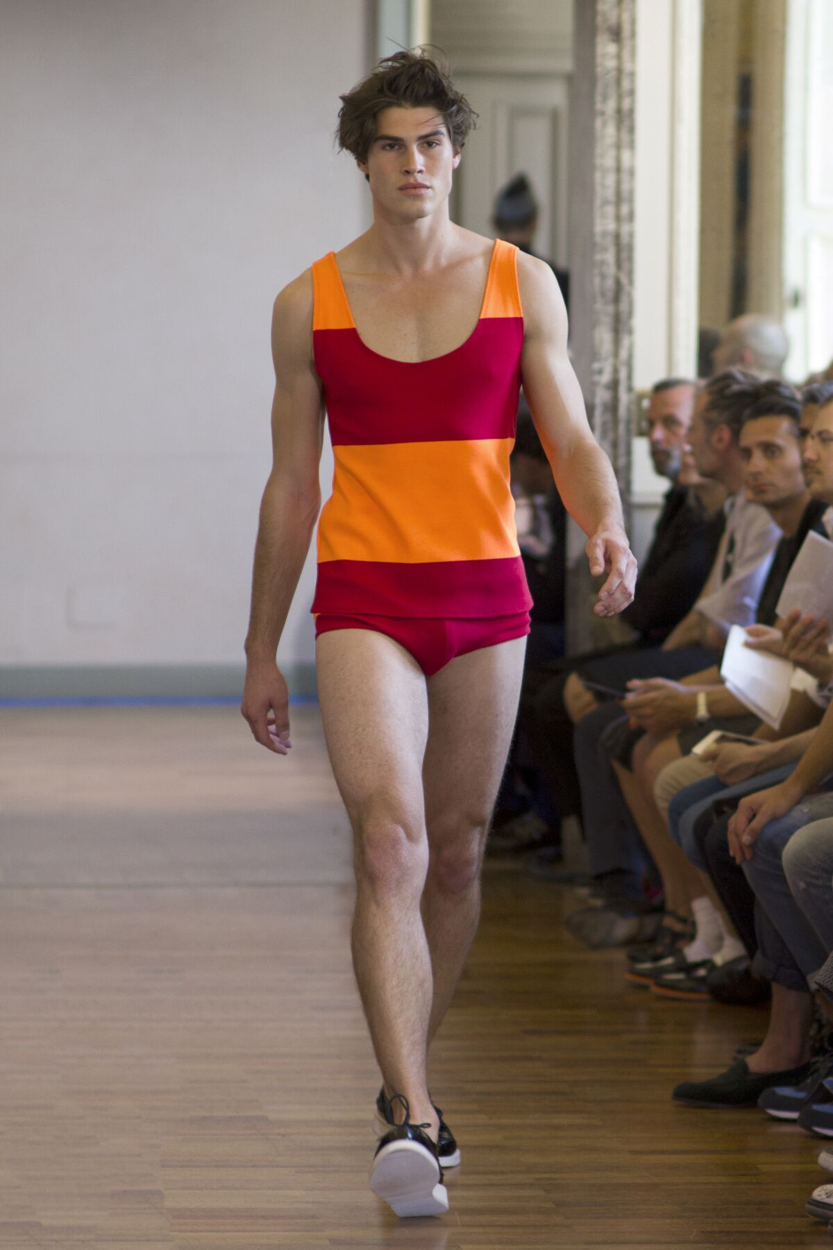 Runway Andrea Incontri Spring Summer 2014 Men Collection Milan Fashion Week