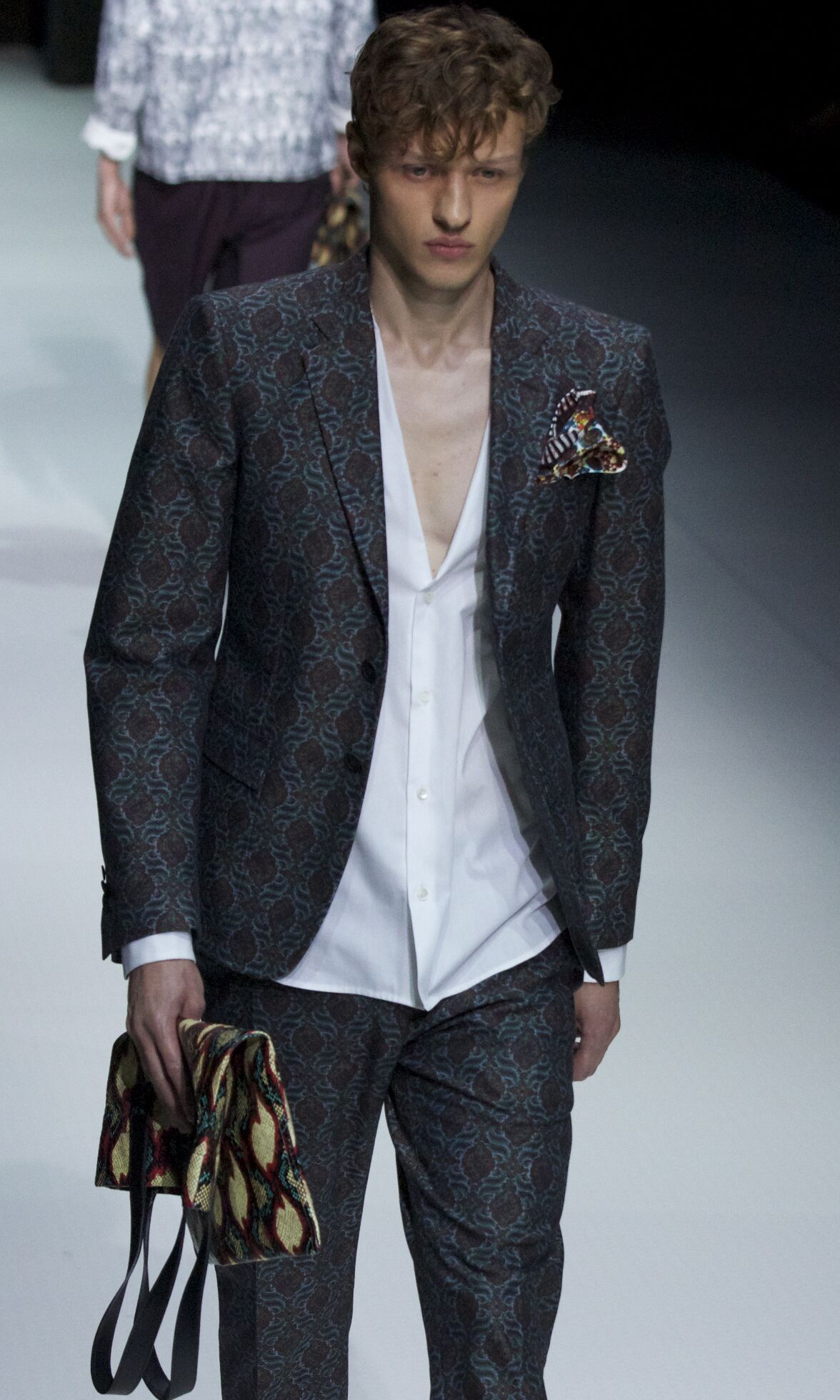 Runway Andrea Pompilio Spring Summer 2014 Men Collection Milan Fashion Week