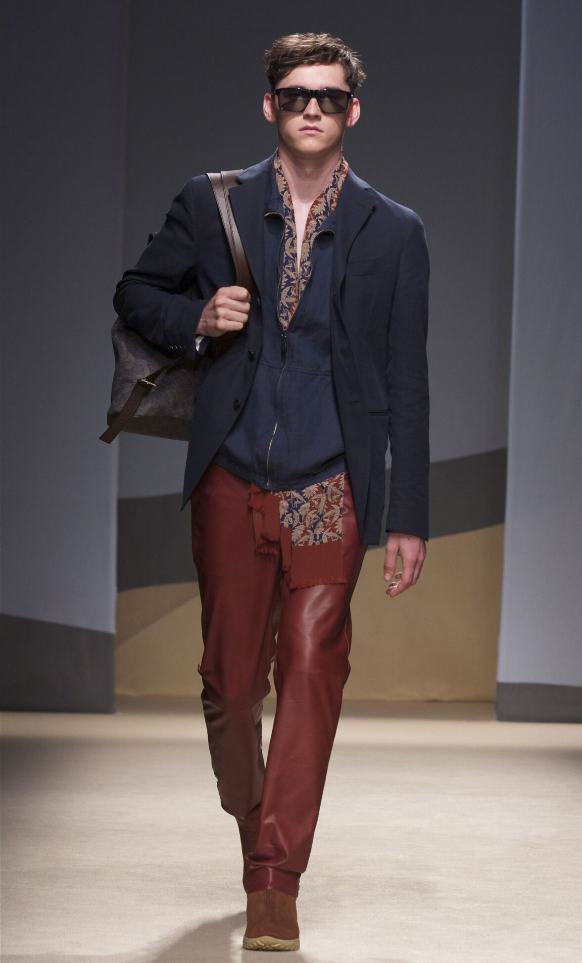 Catwalk Trussardi Man Fashion Show Summer 2014
