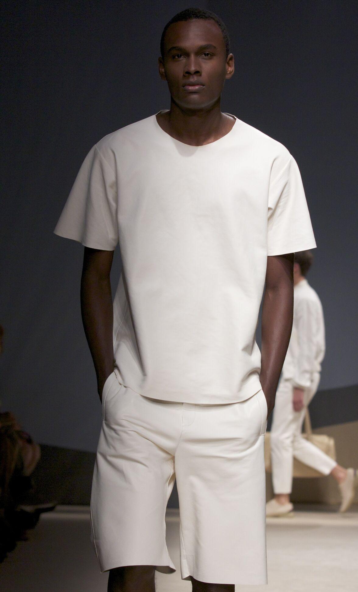 Fashion Man Model Trussardi Catwalk