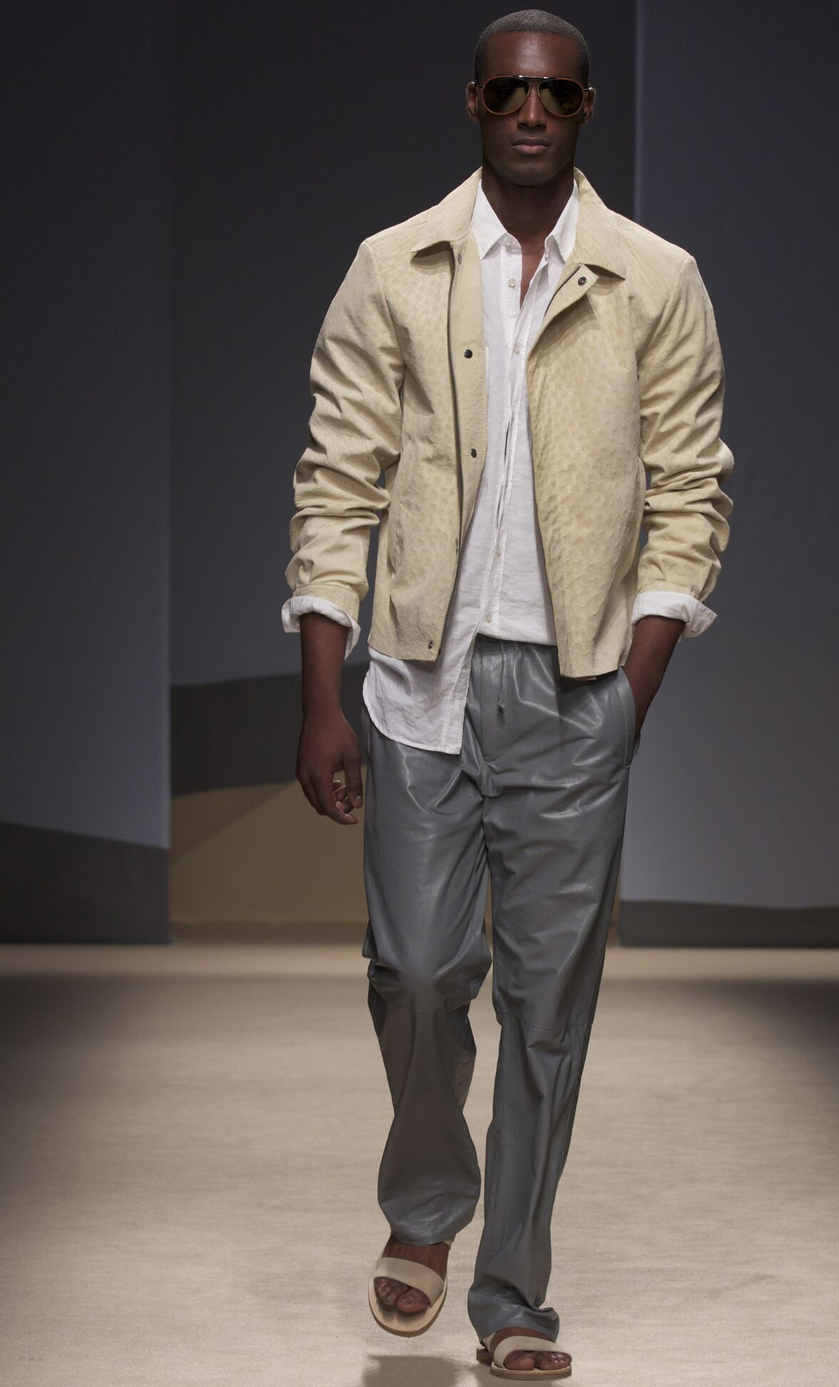 Runway Trussardi Spring Summer 2014 Men Collection Milan Fashion Week