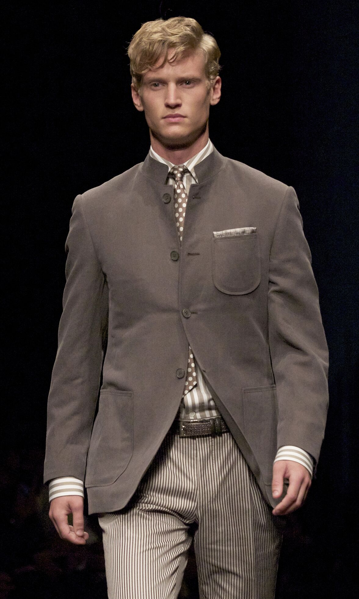 Fashion Man Model Canali Catwalk
