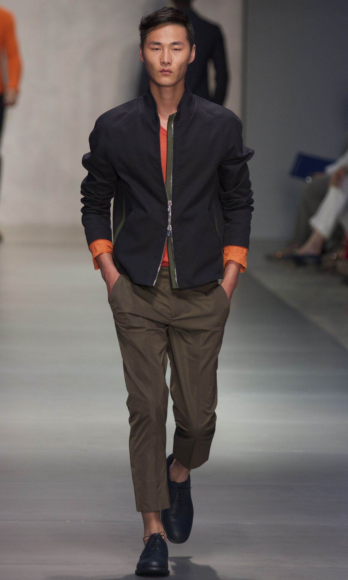 Fashion Man Model Ermanno Scervino Catwalk