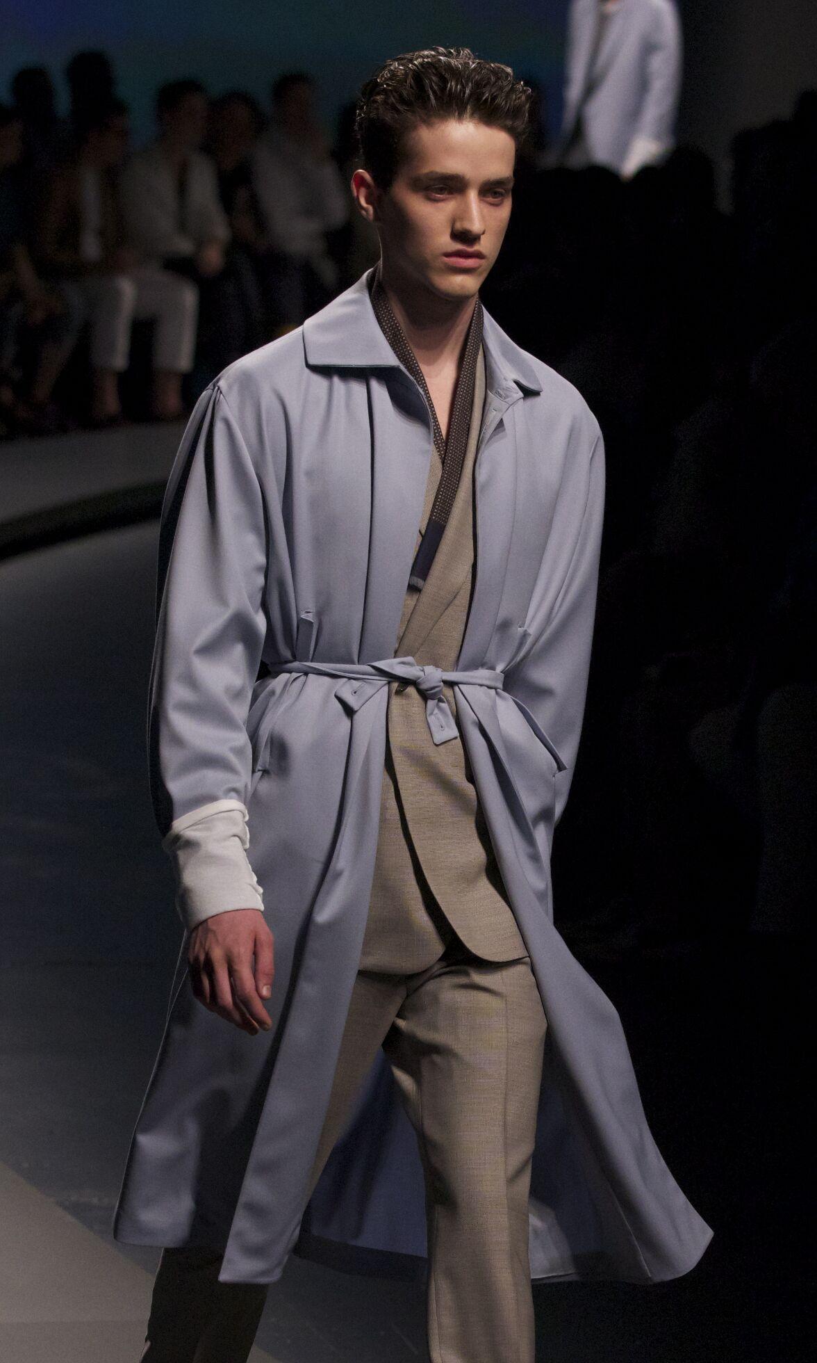 Fashion Man Model Ermenegildo Zegna Catwalk