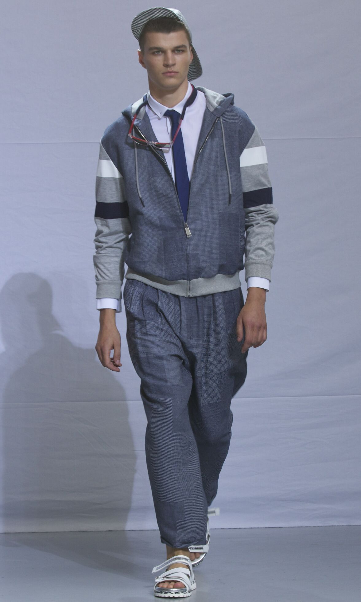Fashion Man Model Frankie Morello Catwalk