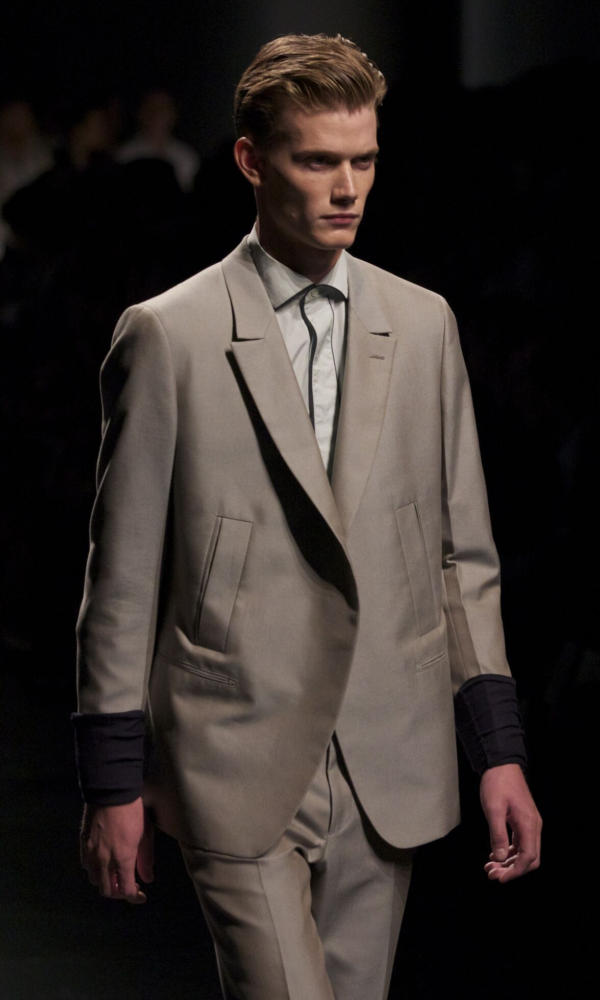 Fashion Model Ermenegildo Zegna Catwalk