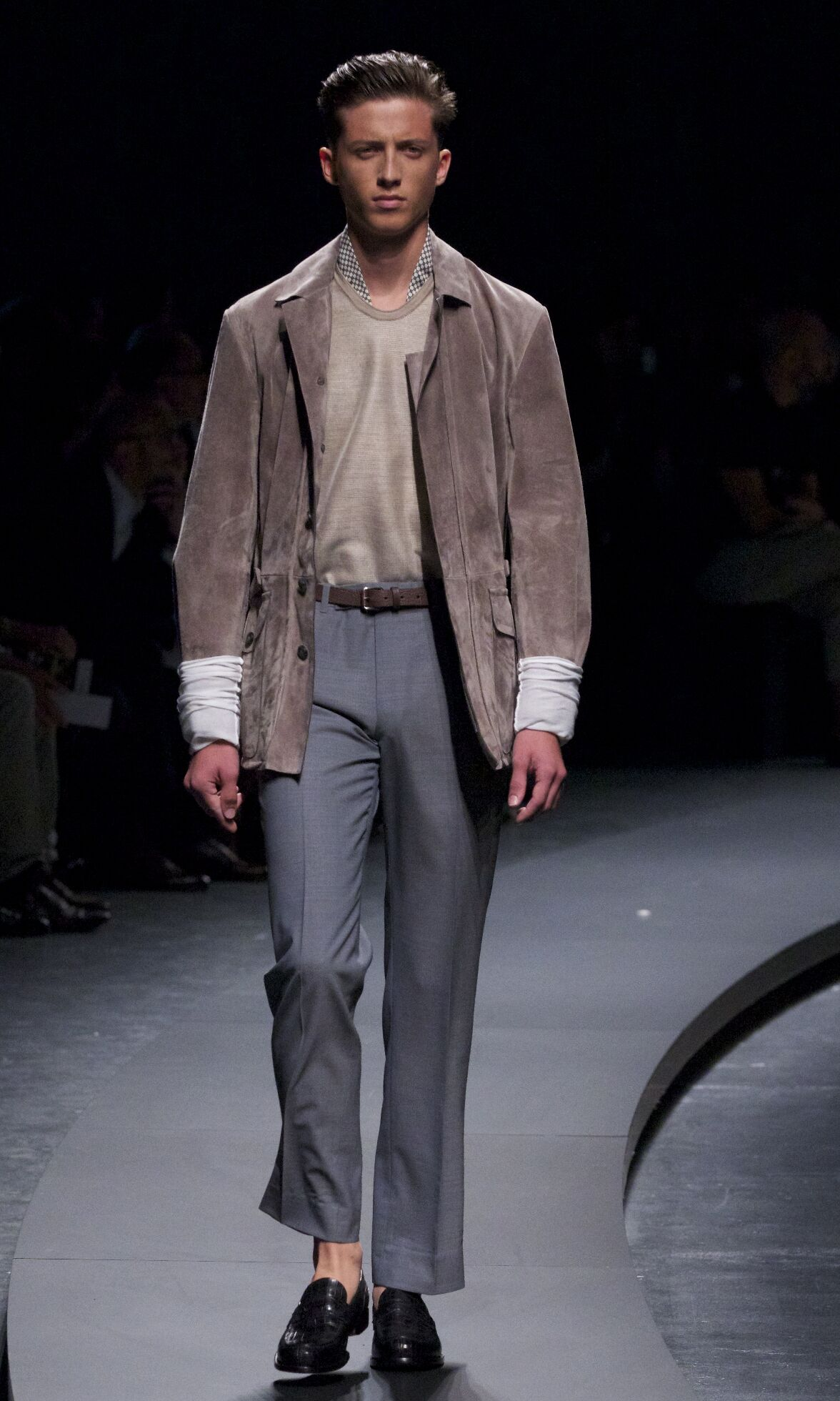 Runway Ermenegildo Zegna Spring Summer 2014 Men Collection Milan Fashion Week