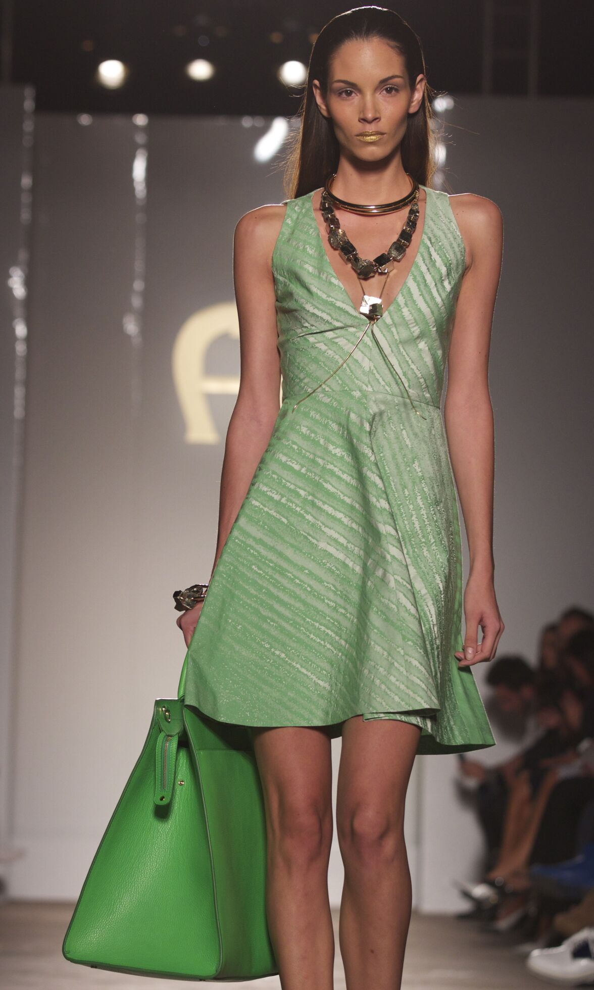Fashion Model Aigner Catwalk