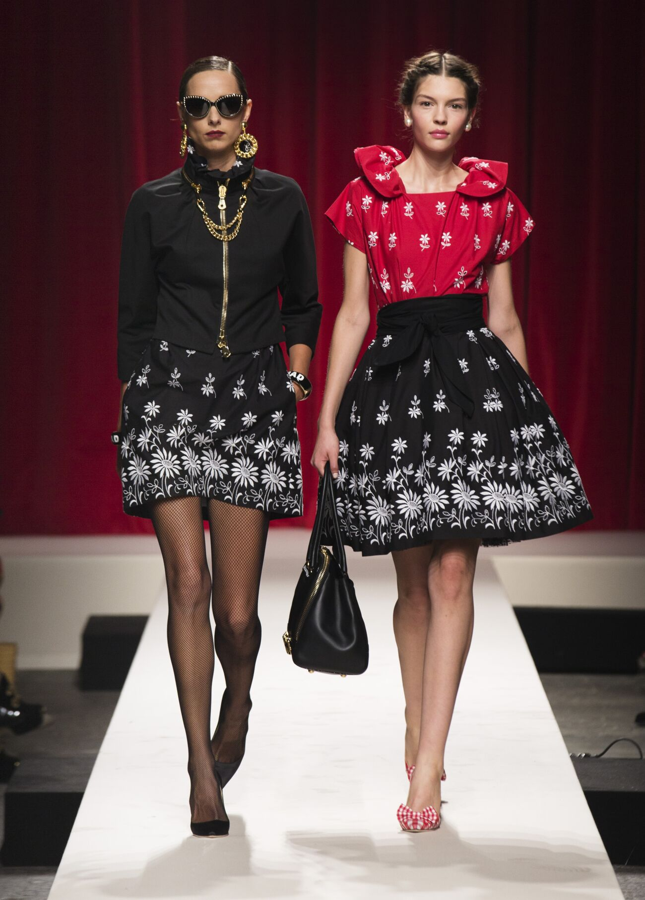 Runway Moschino Spring Summer 2014 Women Collection Milan Fashion Week