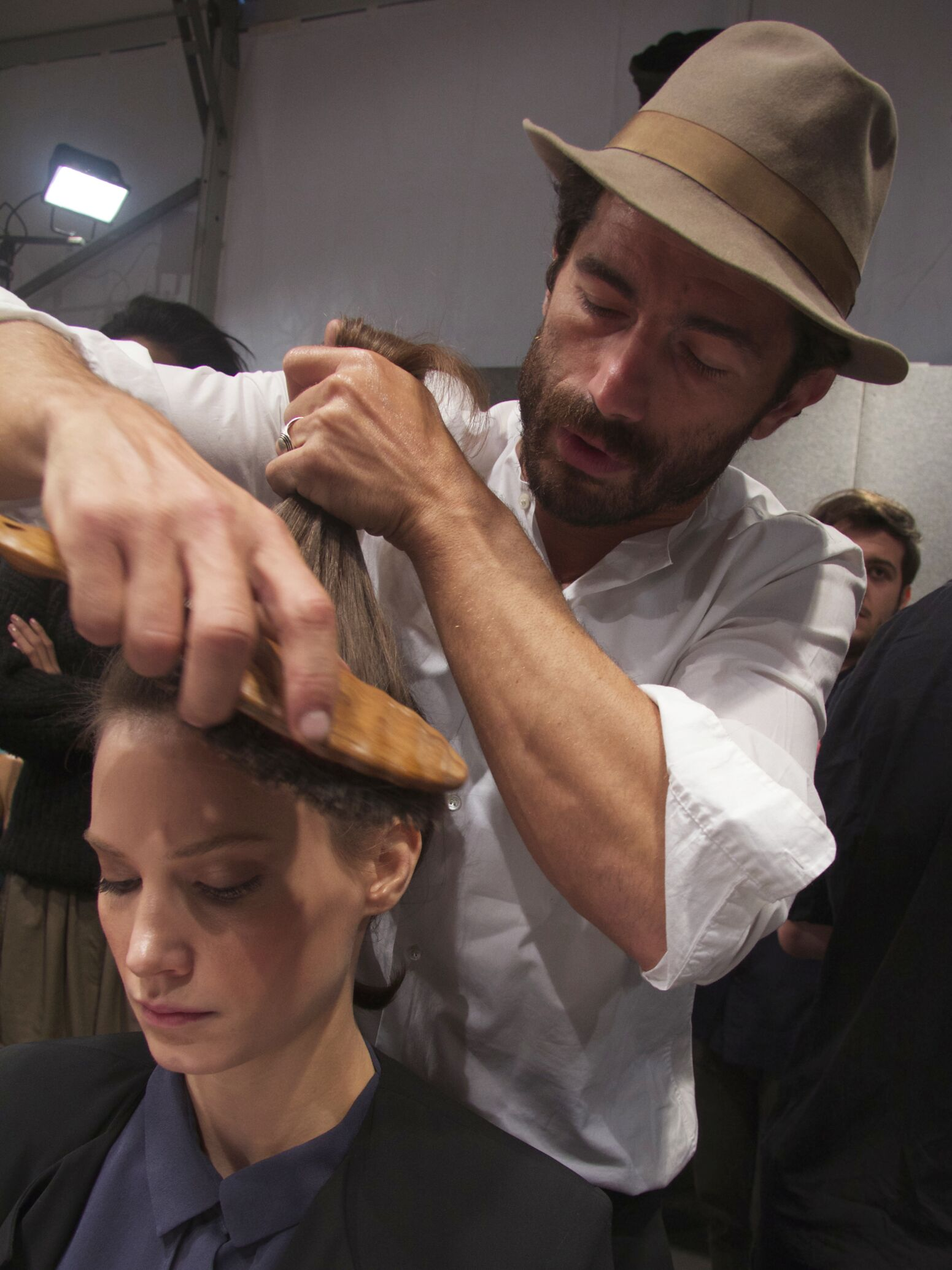 Backstage Ermanno Scervino Spring Summer 2014 Womens Hair Style