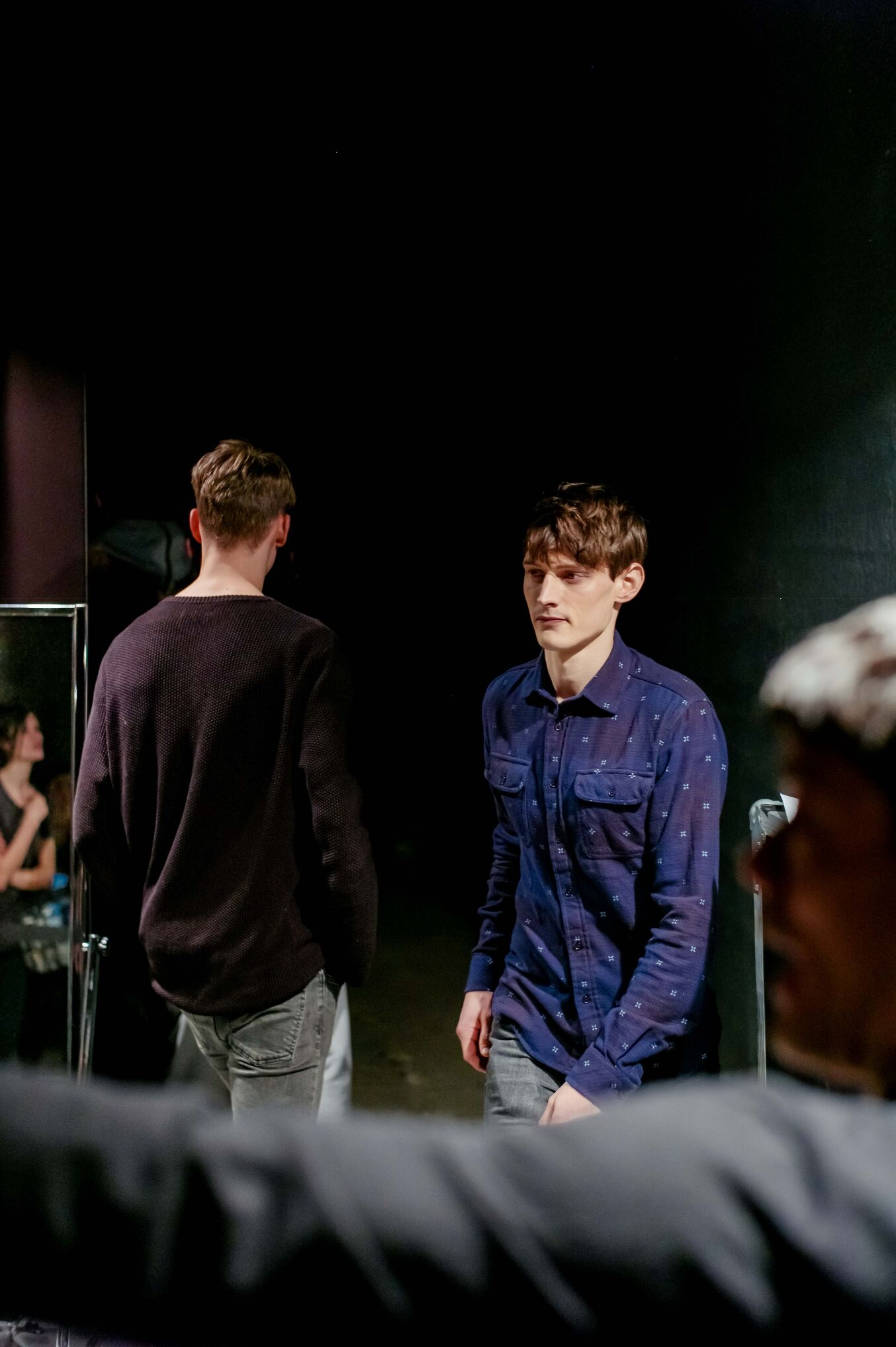 Diesel Black Gold Fashion Models Backstage