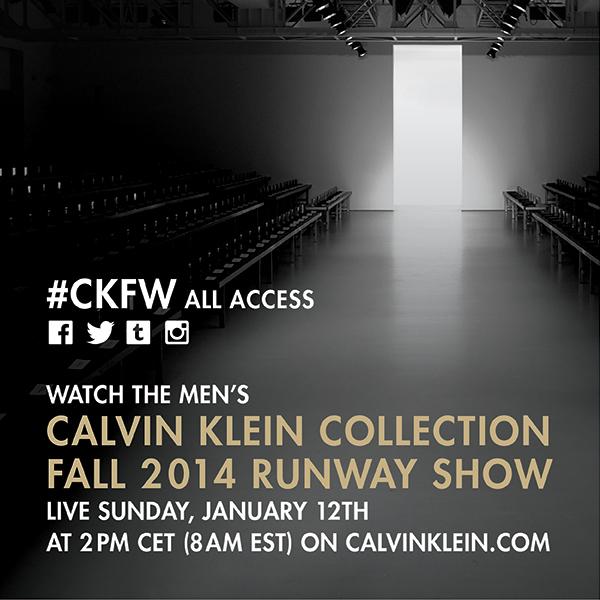 Live Streaming Men's Calvin Klein Collection Fall 2014