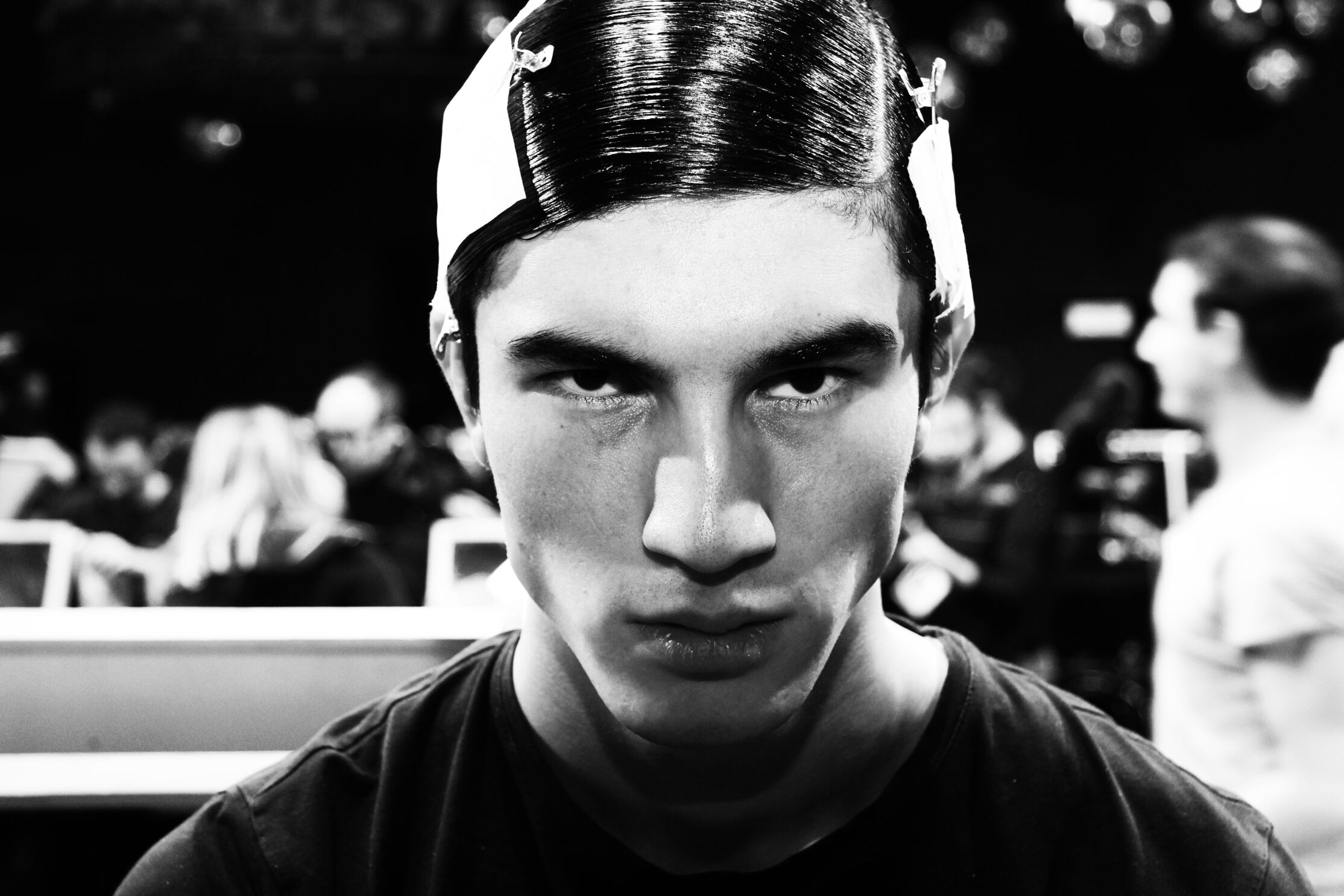 Backstage Dsquared2 Hair Style Man Model
