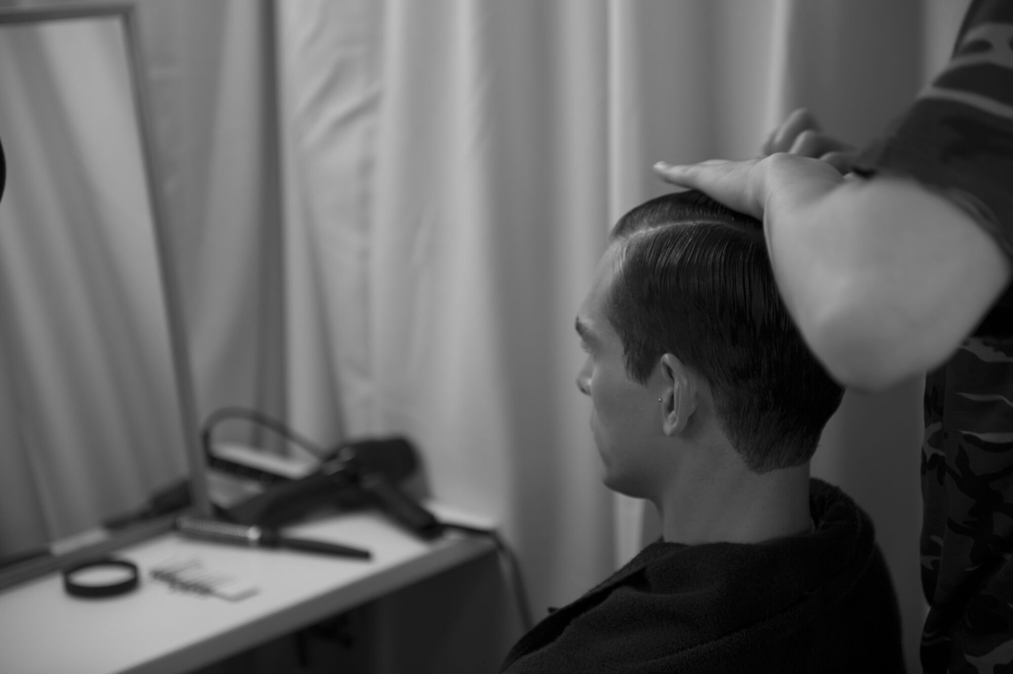 Backstage Hair Style Fashion Show
