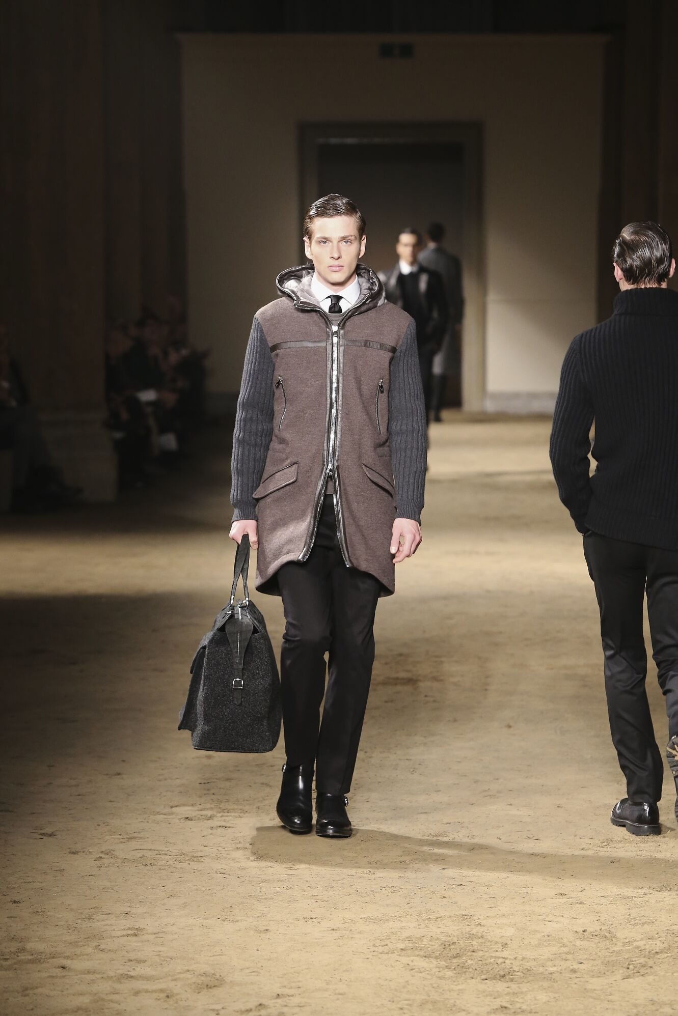 Catwalk Corneliani Fall Winter 2014 15 Men Collection Milano Fashion Week