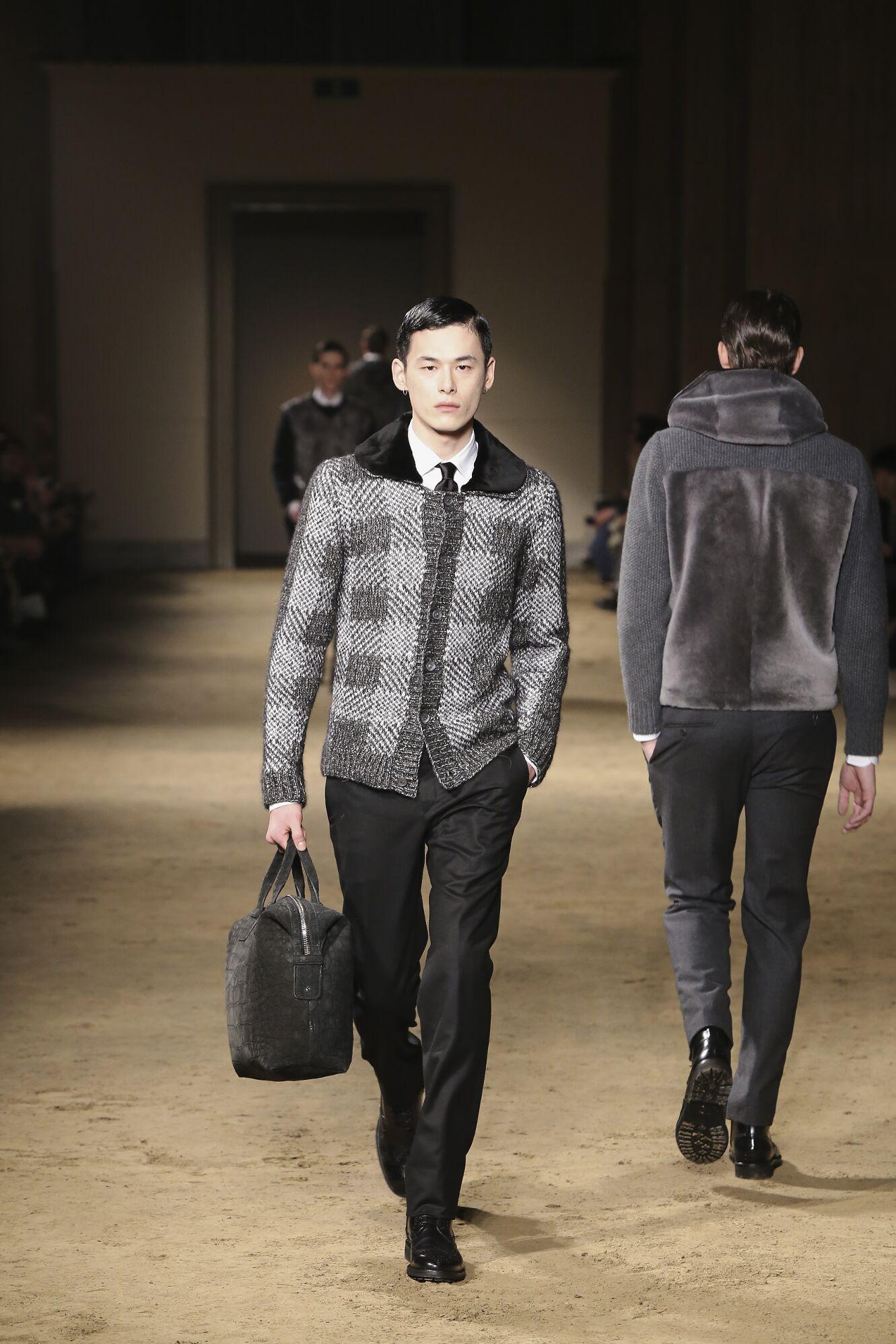 Catwalk Corneliani Fashion Show Winter 2014