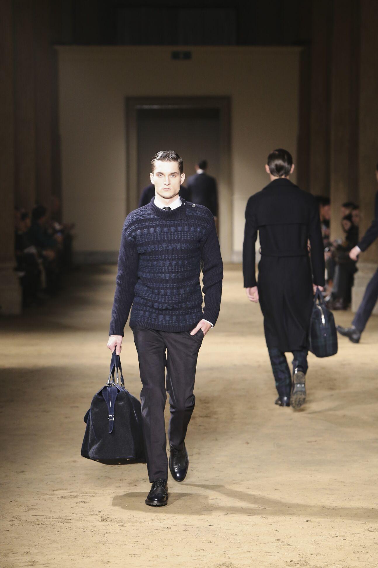 Corneliani Fall Winter 2014 15 Men Collection Milan Fashion Week Fashion Show