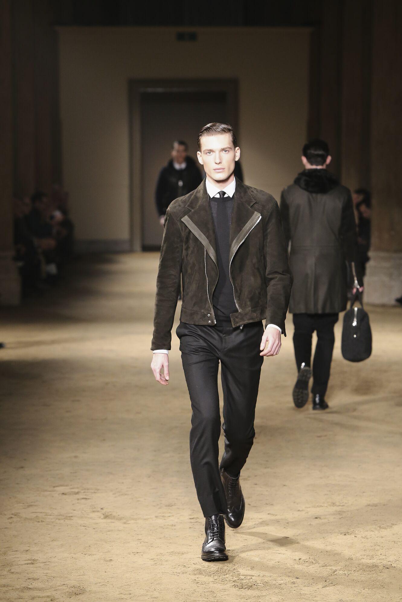 Fashion Man Model Corneliani Catwalk