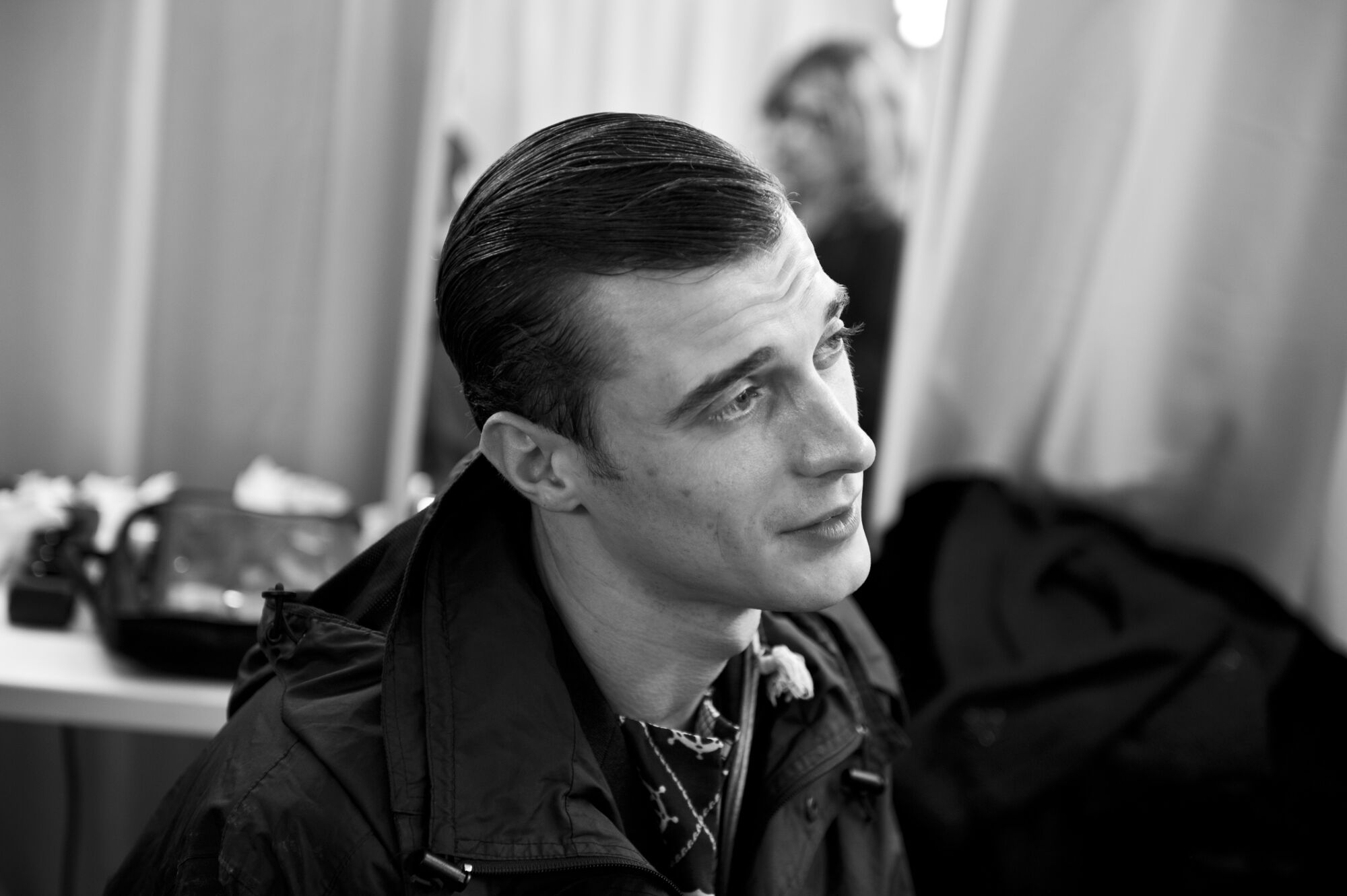 Man Model Corneliani Backstage