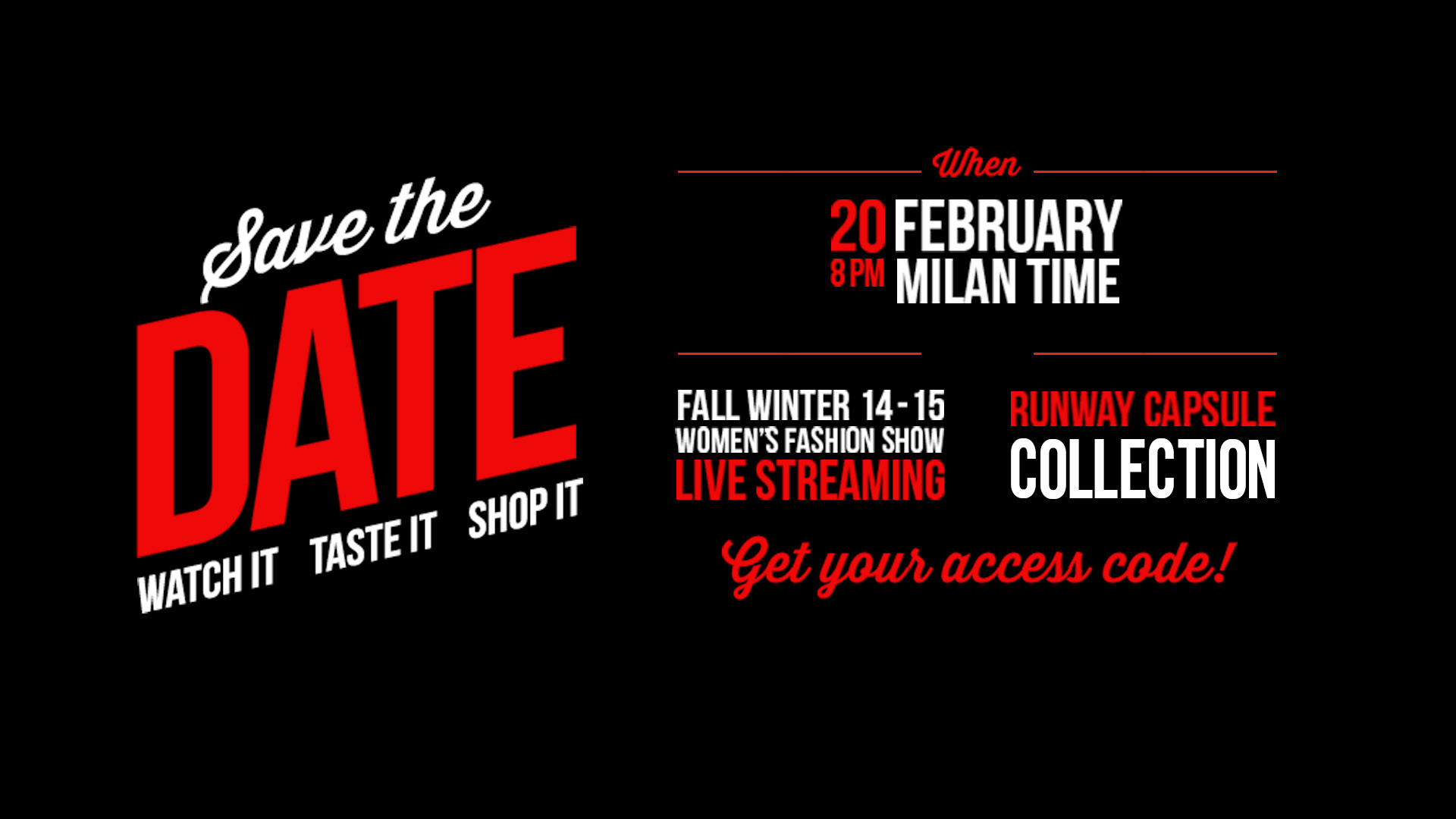 Moschino Fall Winter 2014-15 Fashion Show Live Streaming - 20th February 8pm Milan
