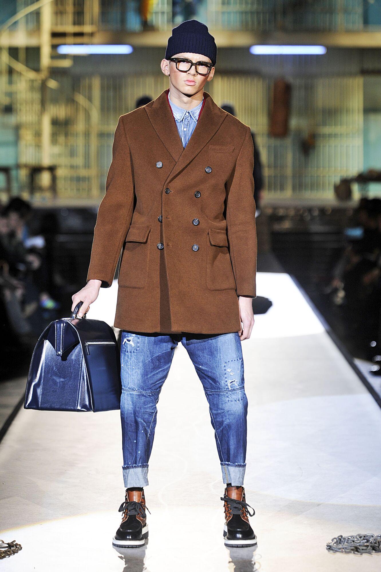 ad036e92dd10 Runway Dsquared2 Fall Winter 2014 15 Men Collection Milan Fashion Week