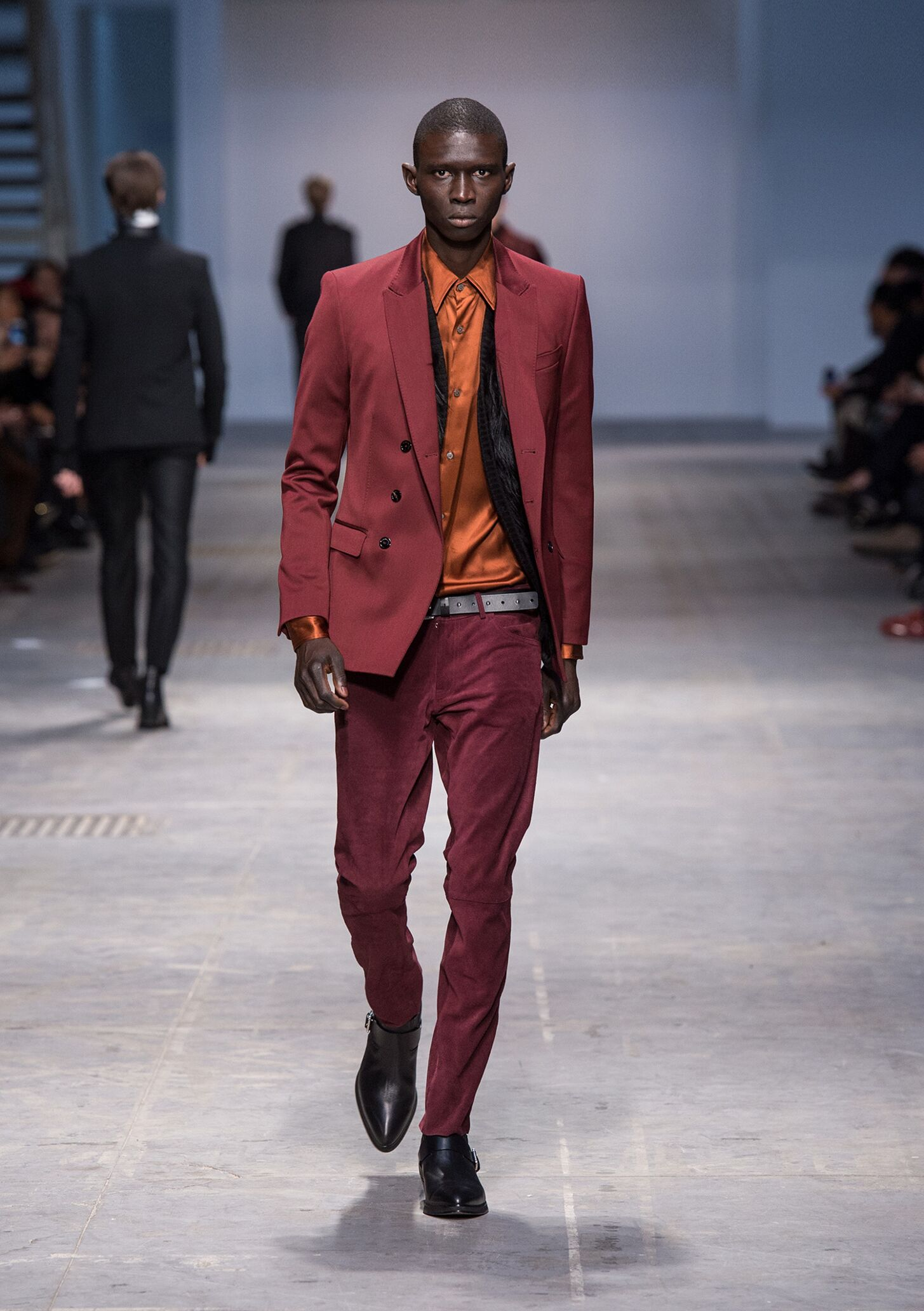 Catwalk Costume National Homme Fashion Show Winter 2014
