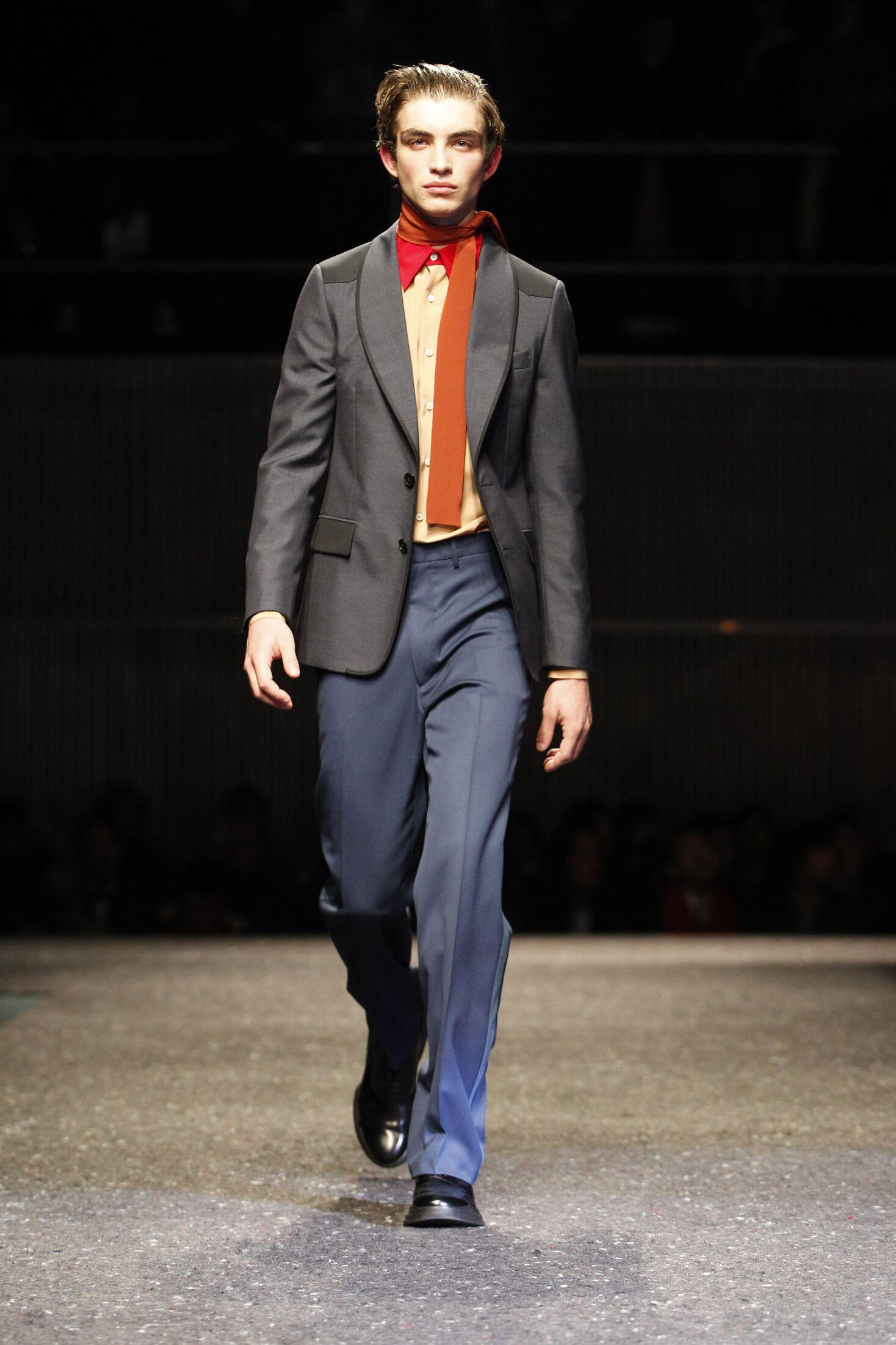 Fashion Model Prada Catwalk