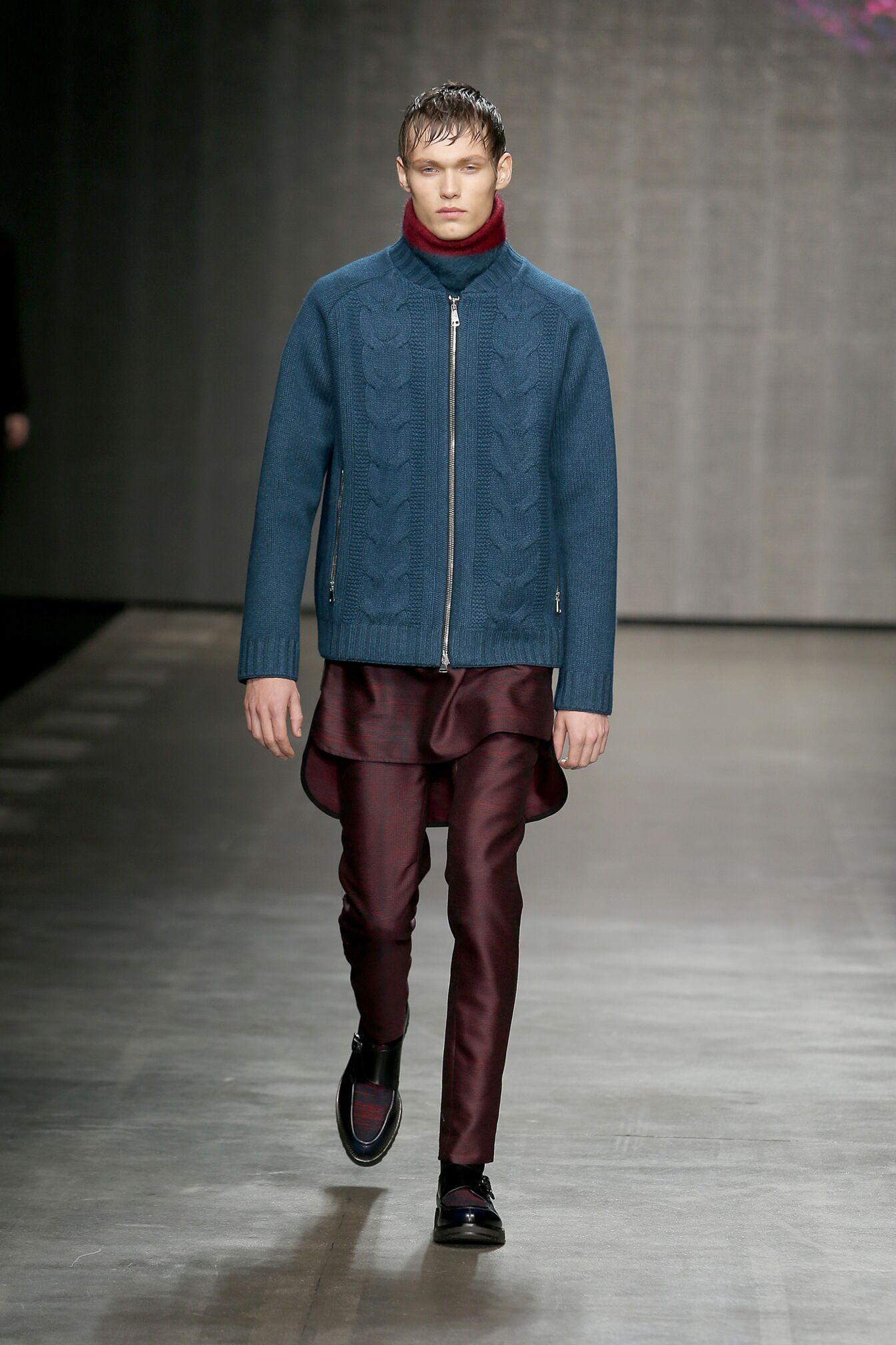 Runway Iceberg Fall Winter 2014 15 Men Collection Milan Fashion Week