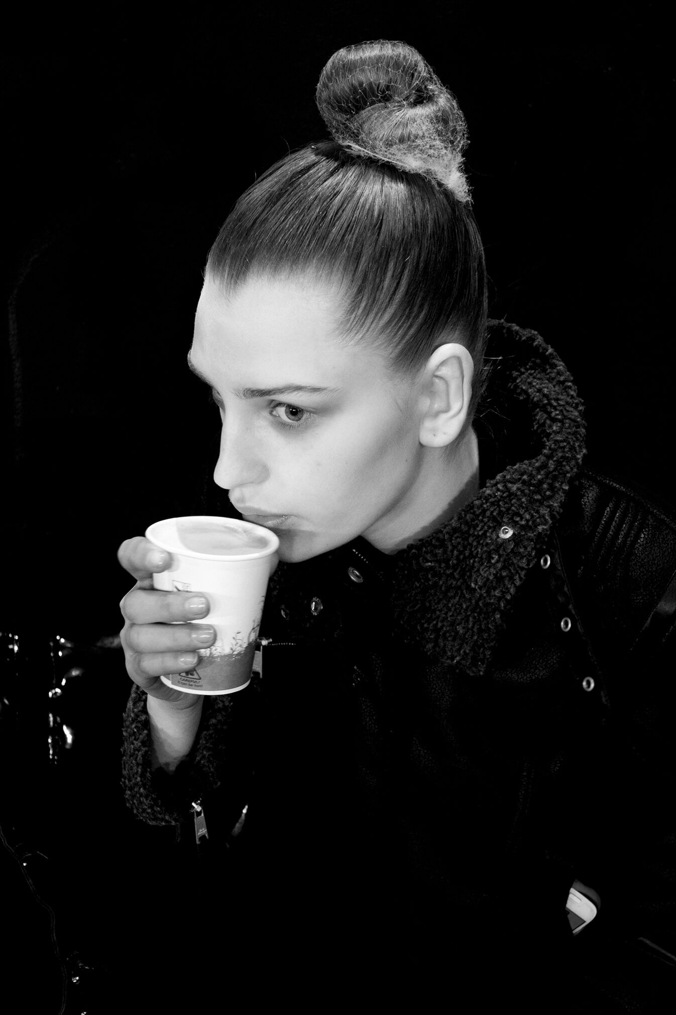 2014 Backstage Dsquared2 Fashion Model